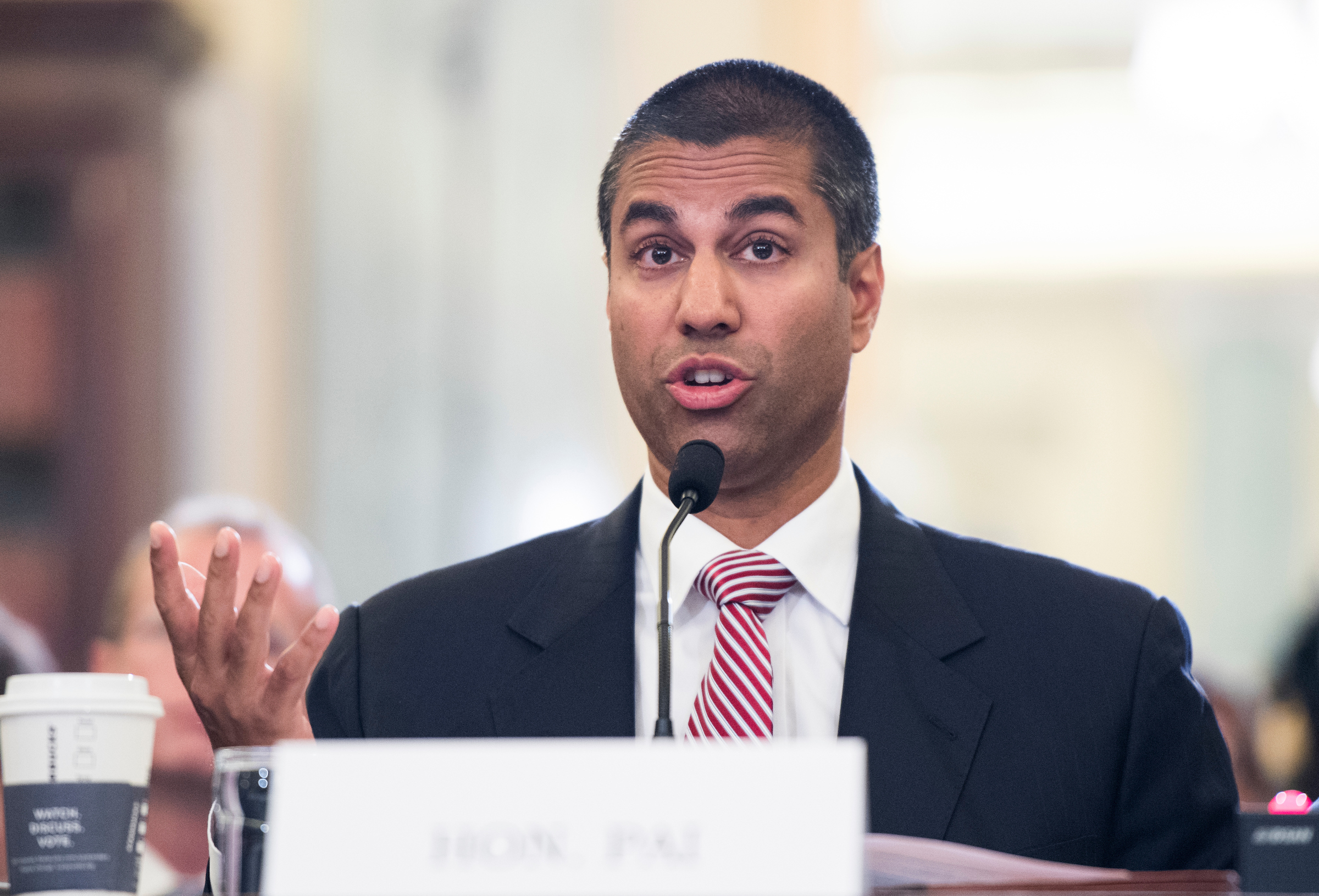 Ajit Pai became chairman of the Federal Communications Commission in January. (Bill Clark/CQ Roll Call file photo)