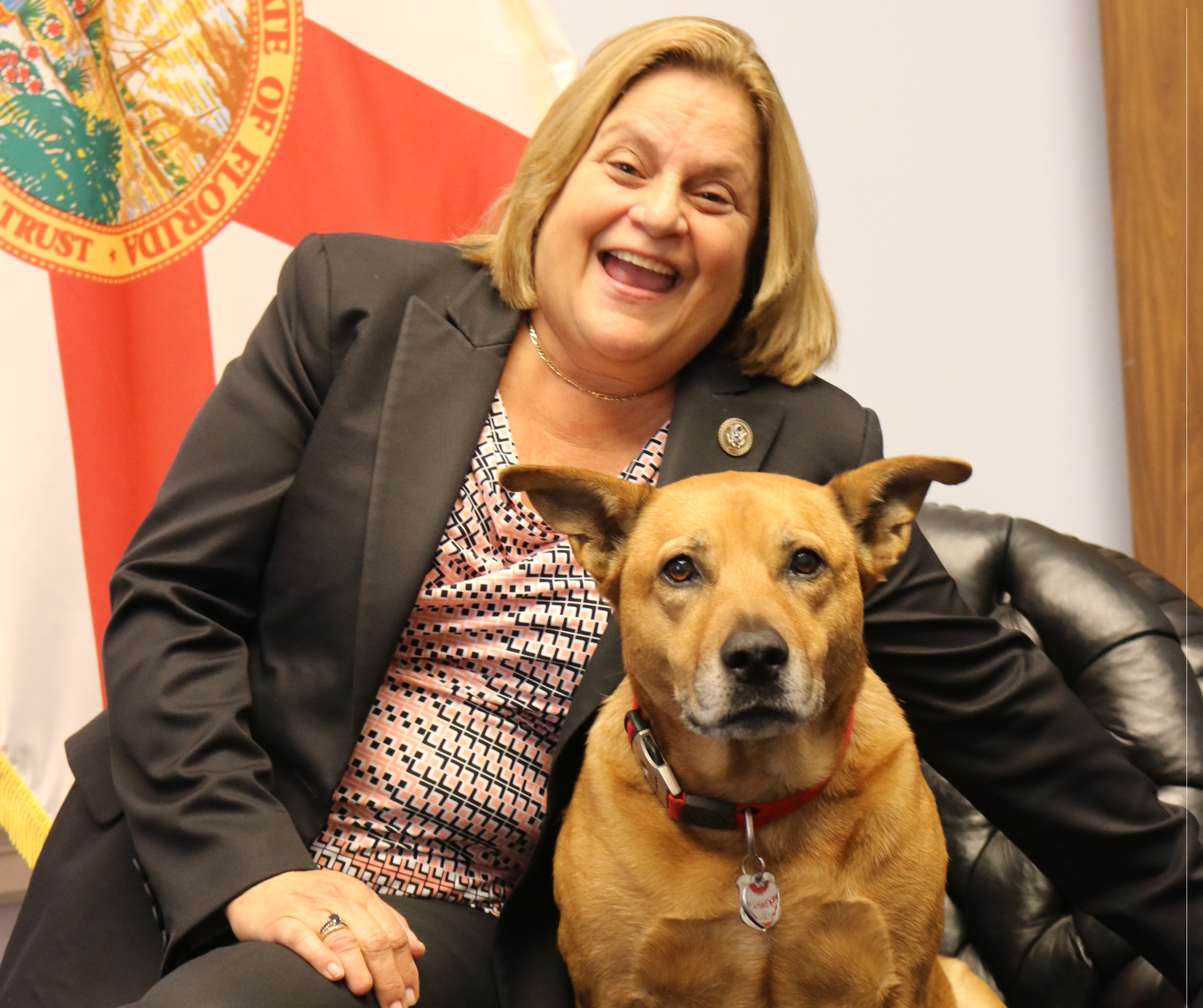 "Maya has been the office dog in Florida Rep. <a class=""memberLink"" title=""Click to view member info in a new window"" href=""http://data.rollcall.com/members/119?rel=memberLink"" target=""_blank"">Ileana Ros-Lehtinen</a>'s office since 2008. (Courtesy Ros-Lehtien's office)"