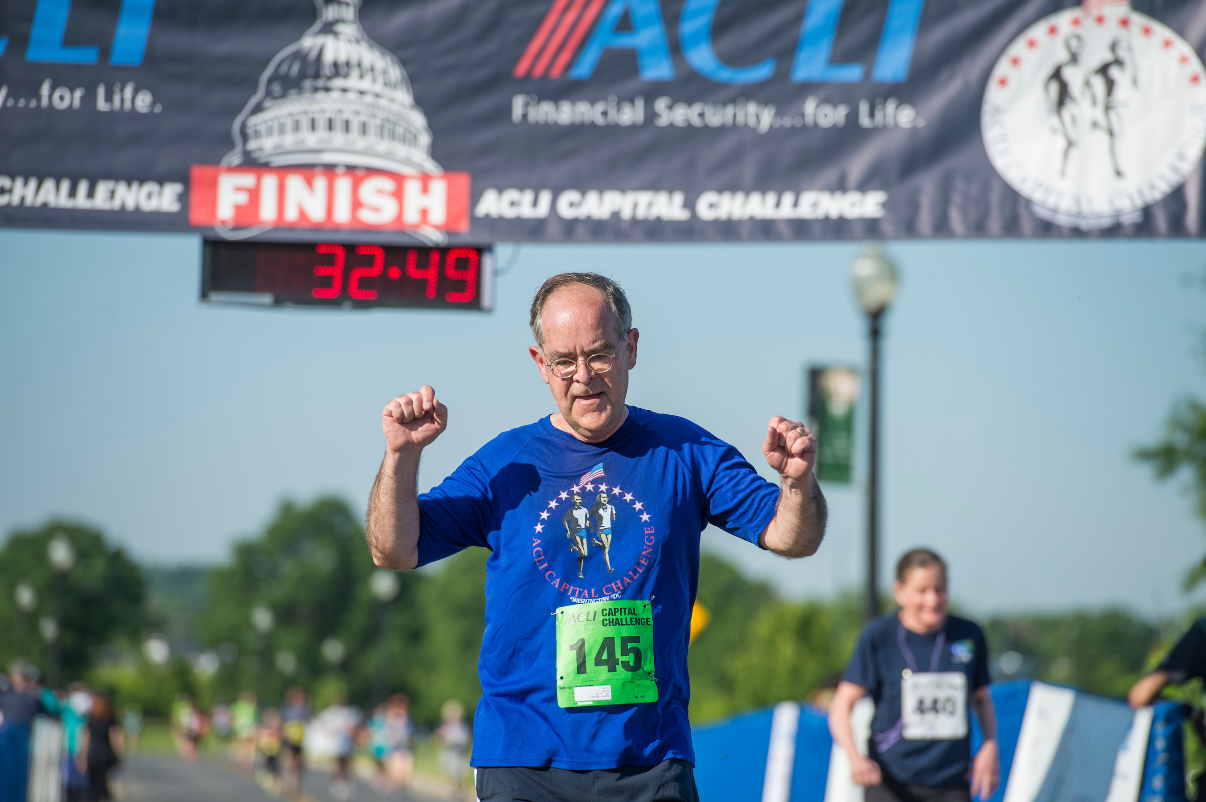 UNITED STATES - MAY 17: Rep. Jim Cooper, D-Tenn., runs in the ACLI Capital Challenge 3 Mile Team Race in Anacostia Park, May 17, 2017. (Photo By Tom Williams/CQ Roll Call)