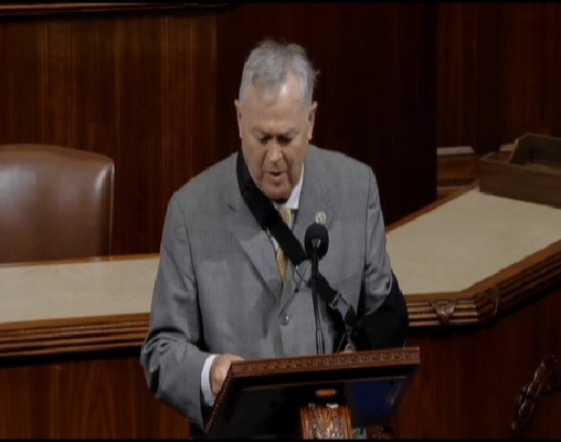 "Screenshot of California Rep. <a class=""memberLink"" title=""Click to view member info in a new window"" href=""http://data.rollcall.com/members/72?rel=memberLink"" target=""_blank"">Dana Rohrabacher</a> on the House floor Wednesday. (Courtesy C-SPAN)"