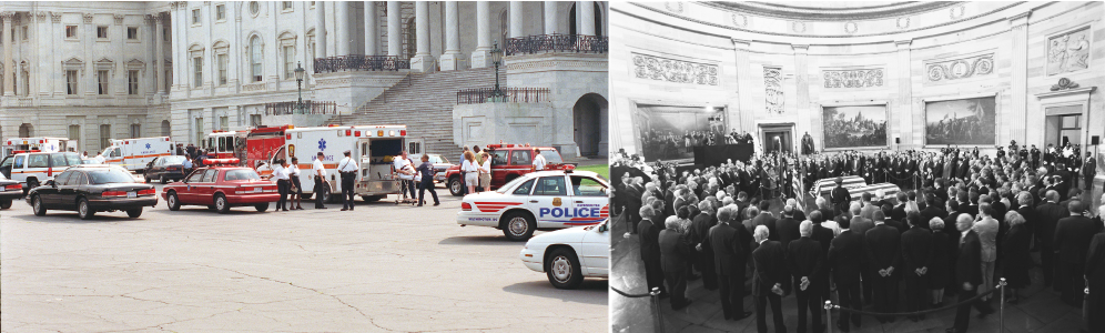 The aftermath of the 1998 shooting at the Capitol.