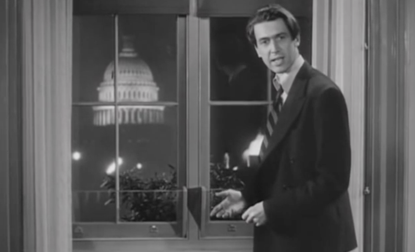 "Jimmy Stewart stars in the 1939 classic ""Mr. Smith Goes to Washington."""