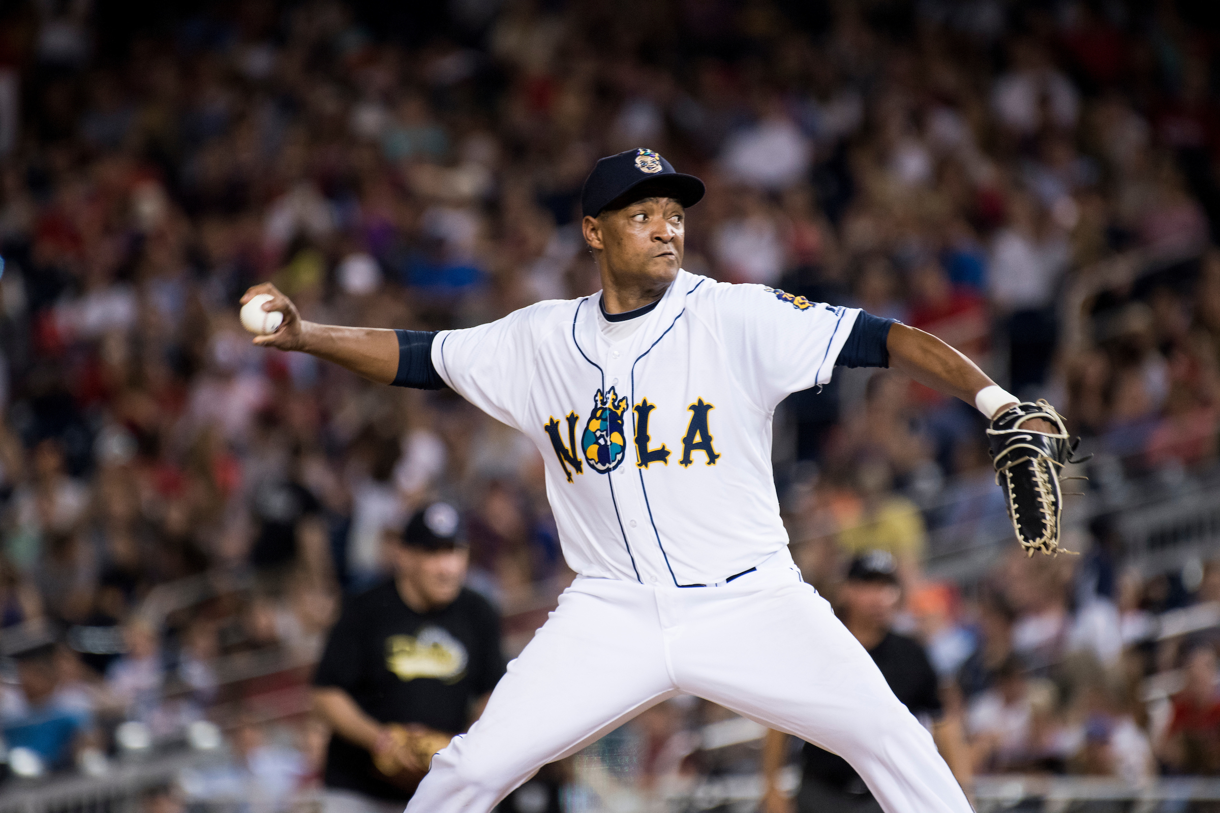 UNITED STATES - JUNE 15: Rep. Cedric Richmond, D-La., pitches during the annual Congressional Baseball Game at Nationals Park in Washington on Thursday, June 15, 2017. (Photo By Bill Clark/CQ Roll Call)