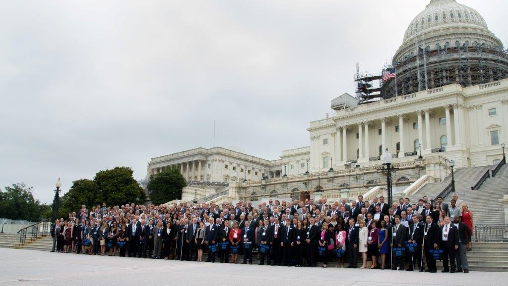 group shot on the Capitol Hill steps from 2016.