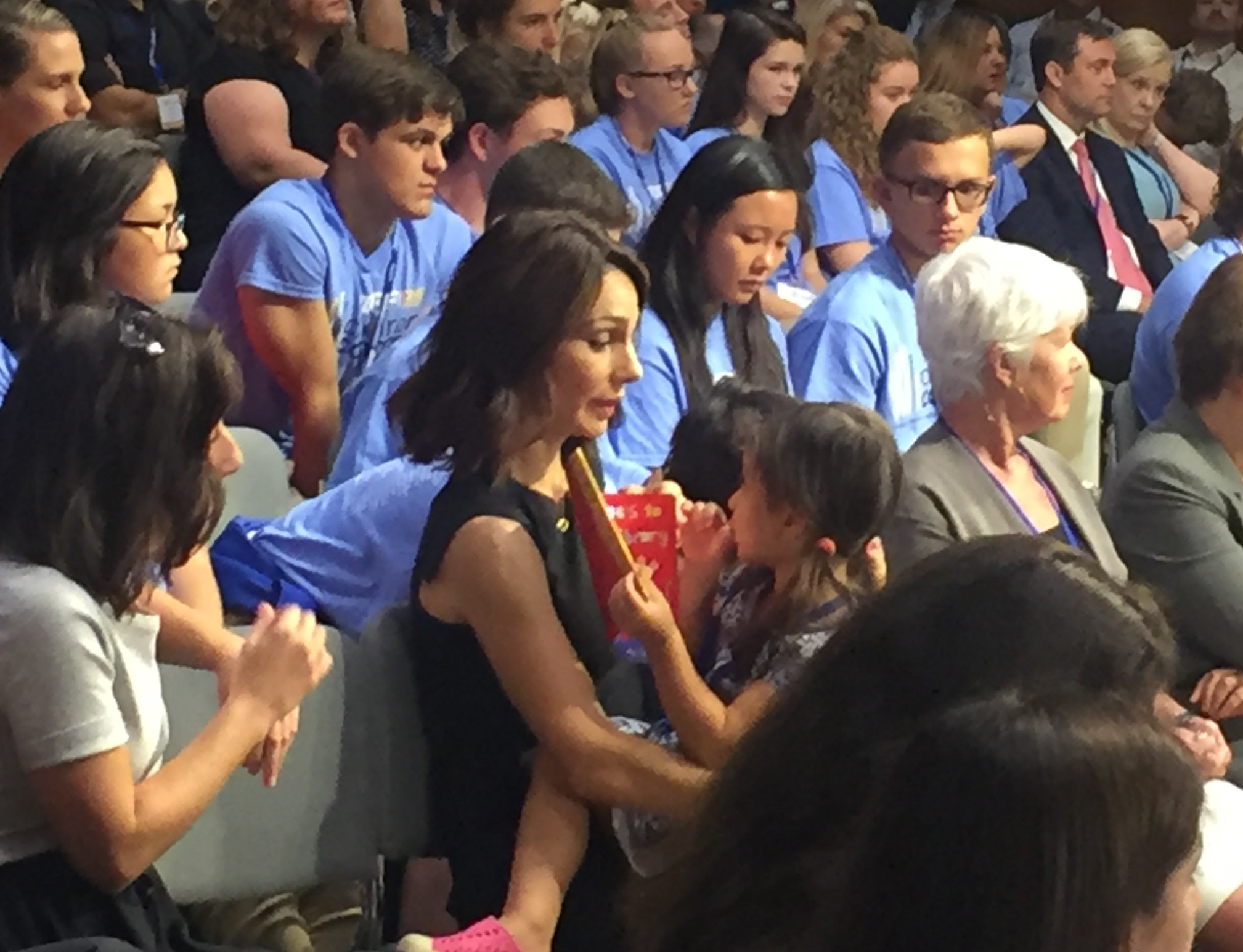 Actress --- sat with the couple's two children while her husband spoke on the panel. (Alex Gangitano/CQ Roll Call)