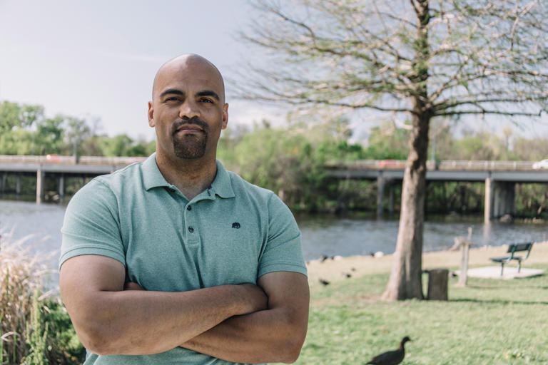 Colin Allred played in the NFL for the Tennessee Titans and was a civil rights attorney before working in the White House. He's running for the House in Texas. (Collin Allred for Congress)