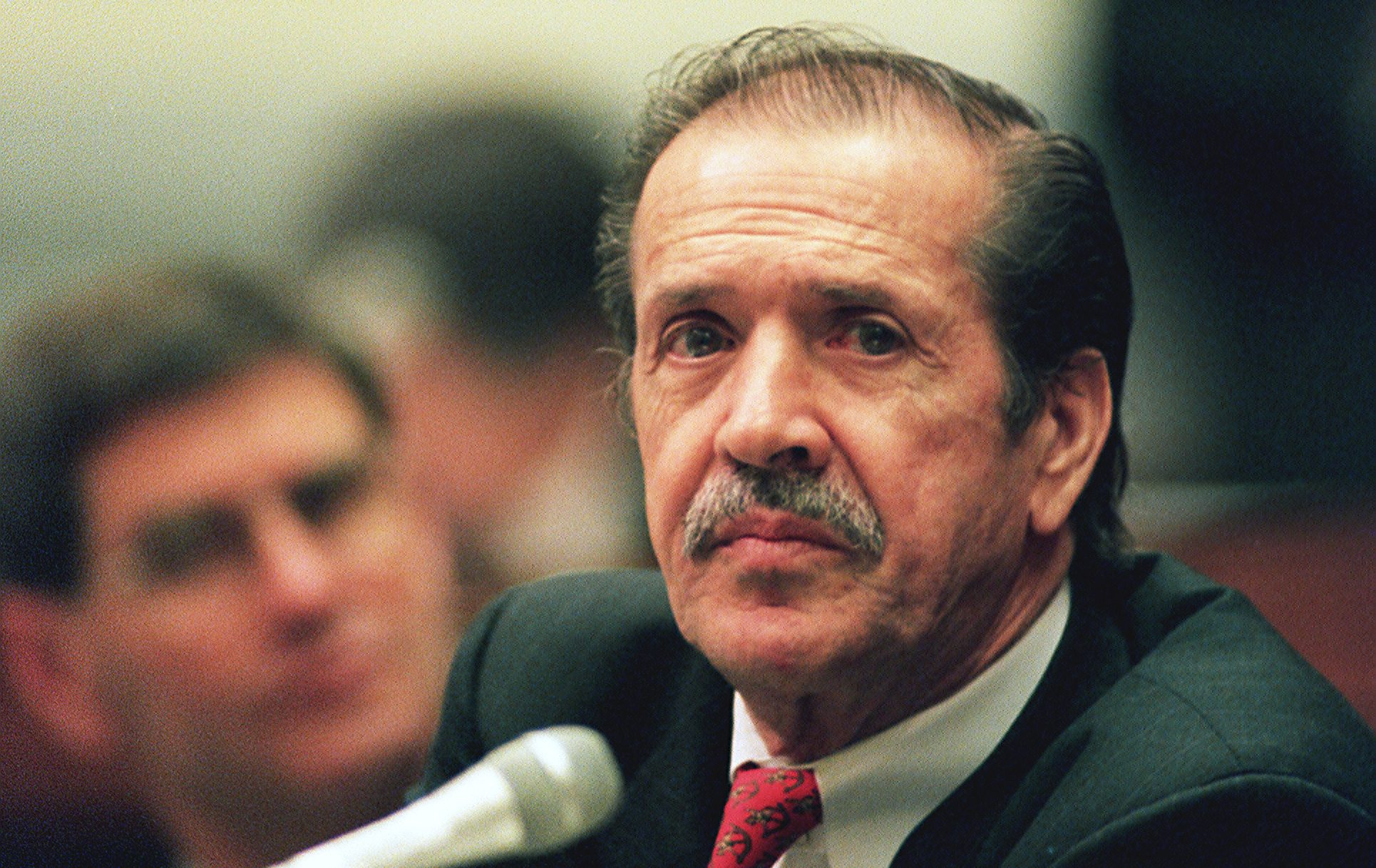 5/21/97.QUADRENNIAL DEFENSE REVIEW--Sonny Bono, R-Calif., during House National Security hearing on the Quadrennial Defense Review..CONGRESSIONAL QUARTERLY PHOTO BY DOUGLAS GRAHAM