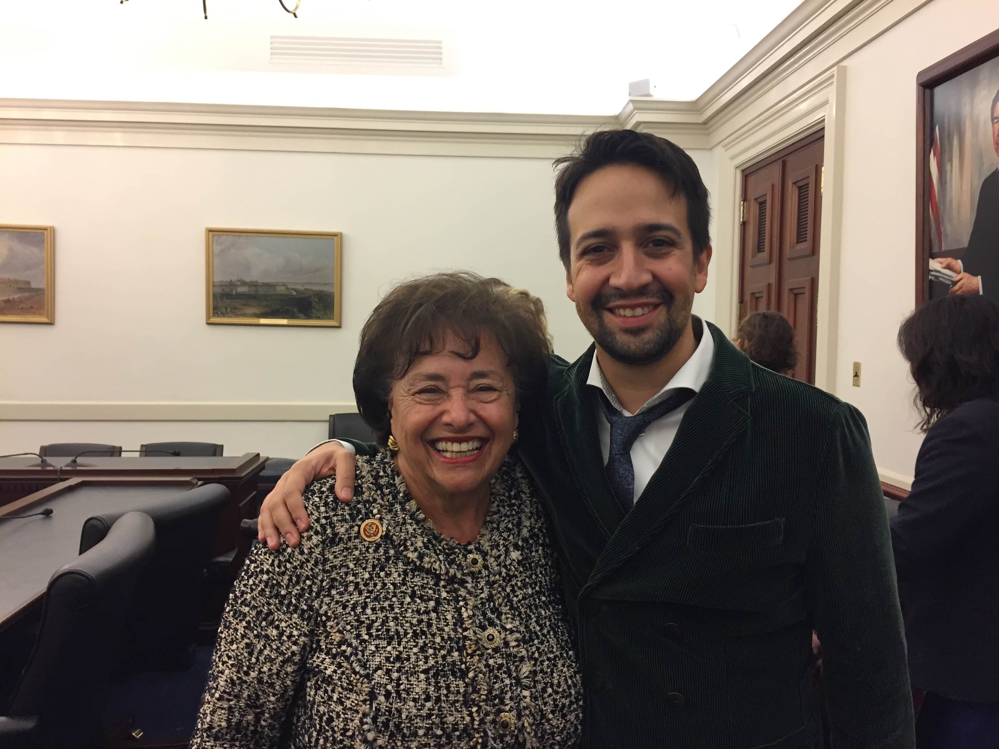 New York Rep. Nita M. Lowey and Lin-Manuel Miranda. (Courtesy Lowey's office)