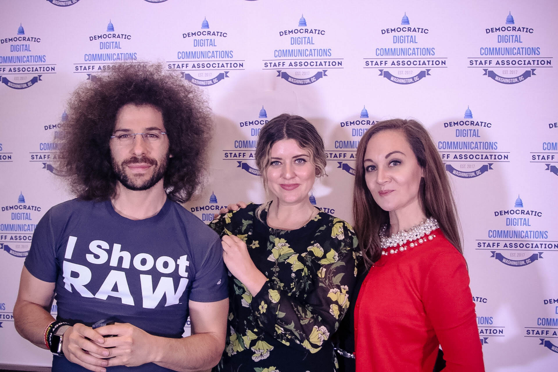 photographer Jared Polin, stylist Mary Elizabeth and staffer Jessica Presley. (Democratic Digital Communications Staff Association)