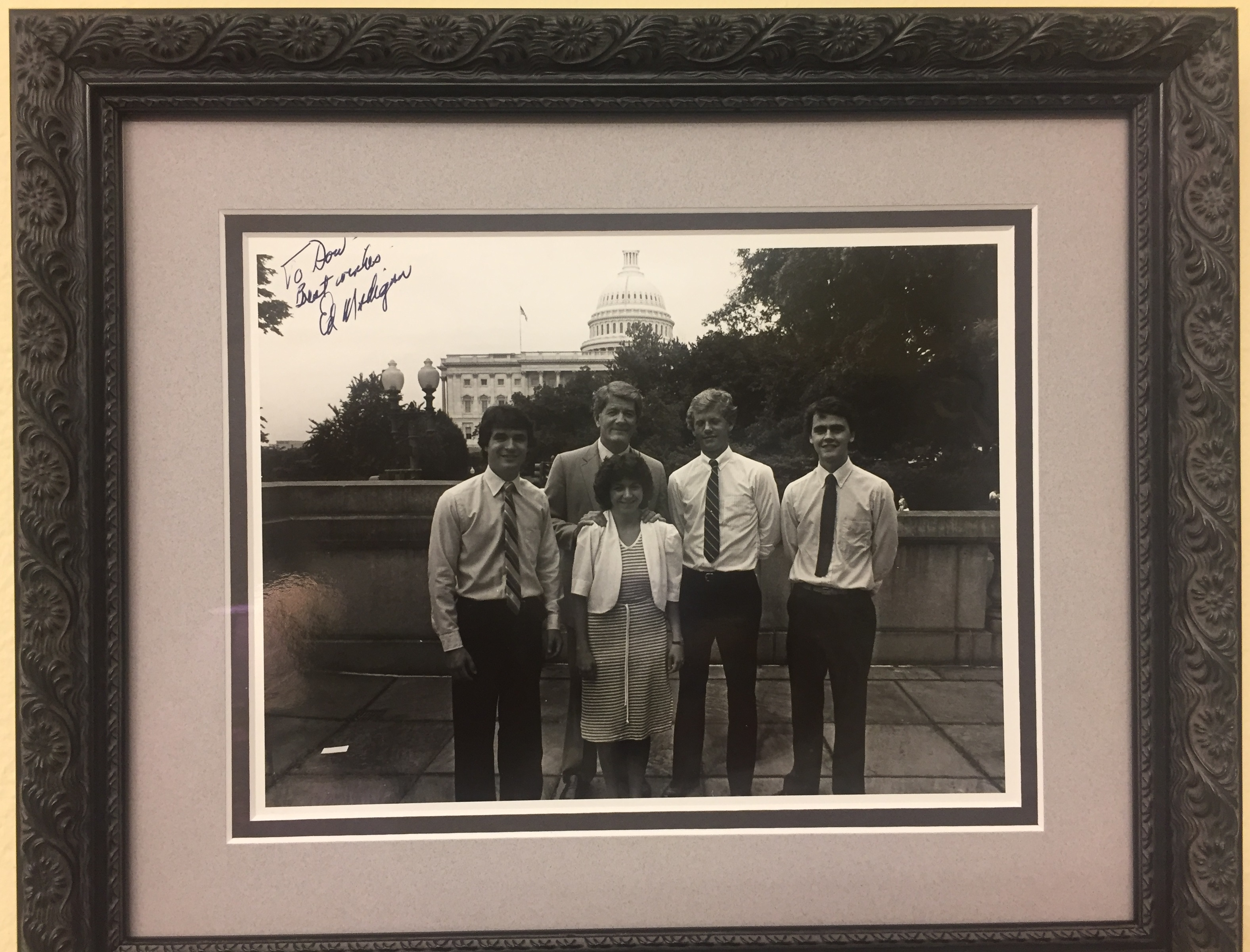 Rep. Don Bacon, R-Neb., left, Bacon worked just out of college as an intern in 1984 for Rep. Edward R. Madigan, left center. (Courtesy Bacon)