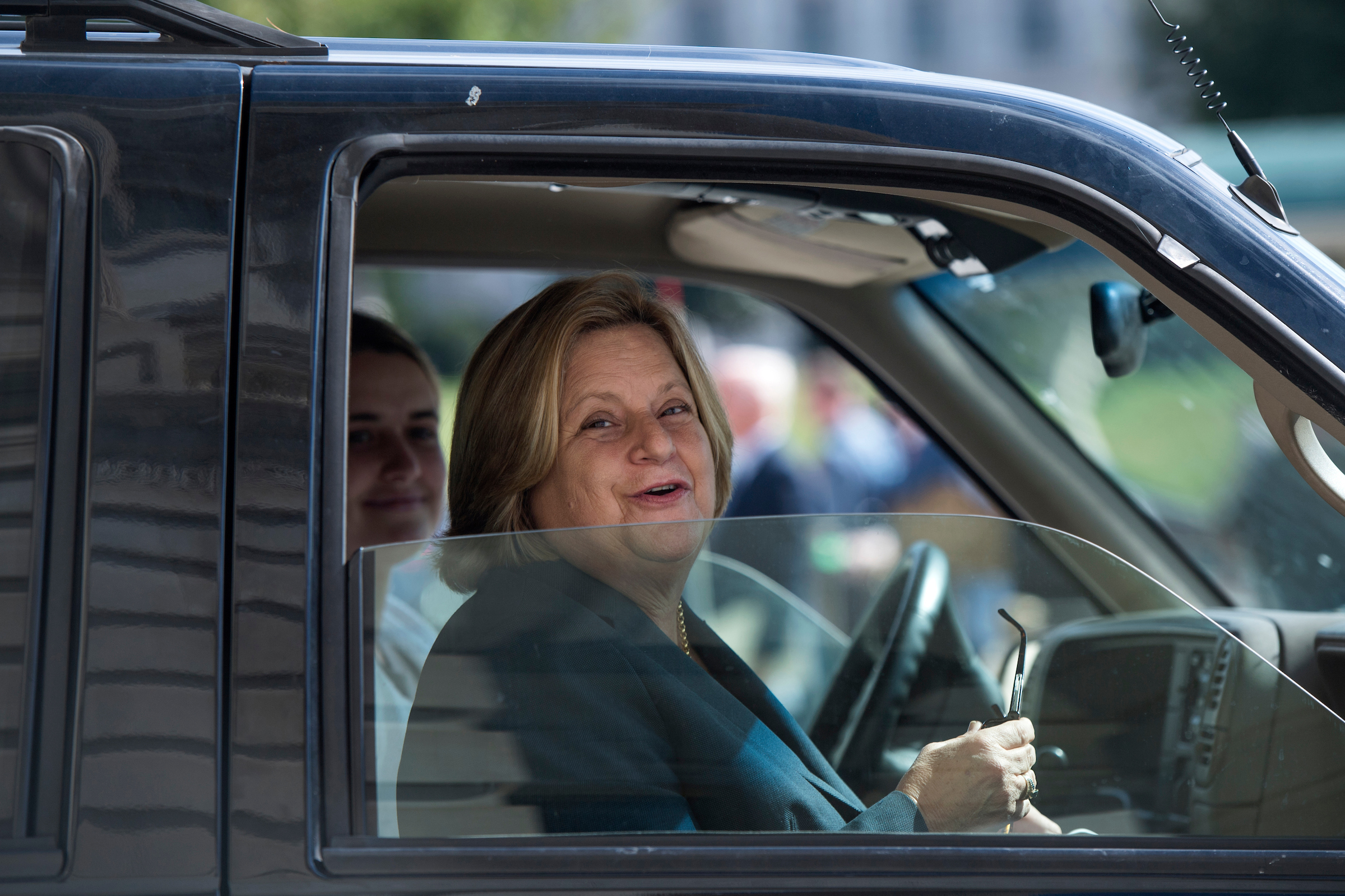 UNITED STATES - OCTOBER 05: Rep. Ileana Ros-Lehtinen, R-Fla., leaves the Capitol after the last votes of the week on October 5, 2017. (Photo By Tom Williams/CQ Roll Call)