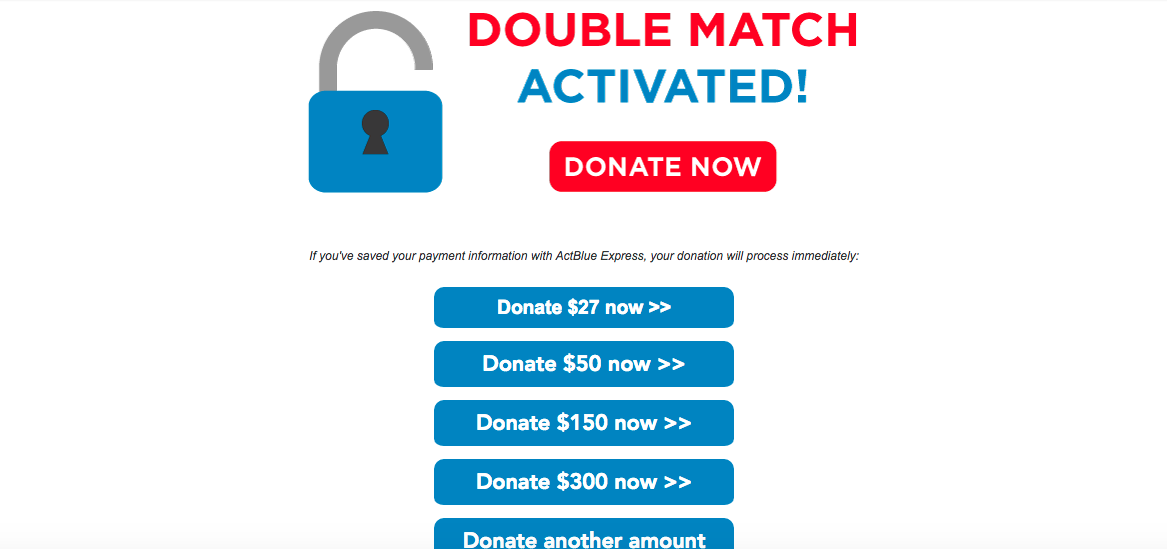 The campaign of Kia Hamadanchy, a Democrat running in California's 45th District, emailed supporters all weekend about its matching program. (Screenshot)