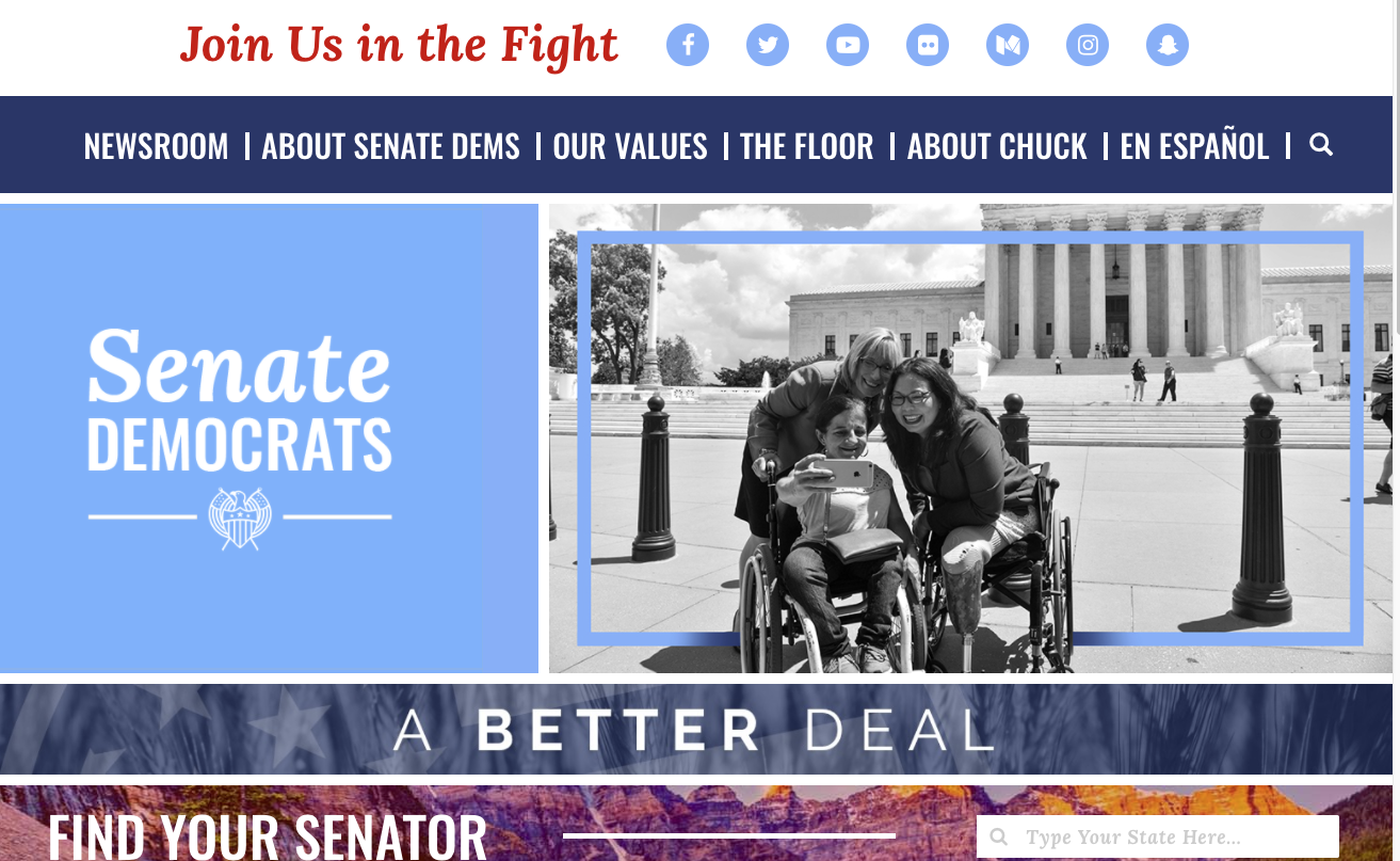 Senate Democrats rolled out a new website on Friday.