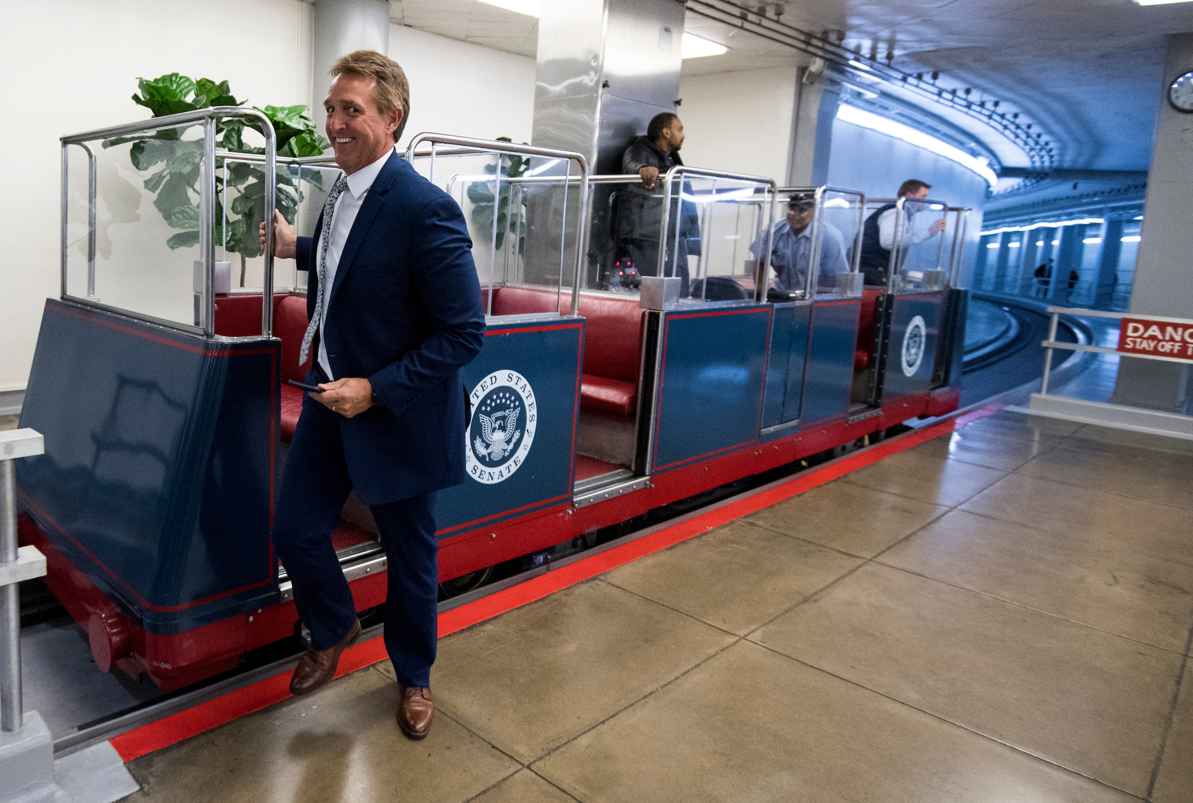 UNITED STATES - OCTOBER 17: Sen. Jeff Flake, R-Ariz., arrives in the Capitol for the Senate Republicans' policy lunch on Tuesday, Oct. 17, 2017. (Photo By Bill Clark/CQ Roll Call)
