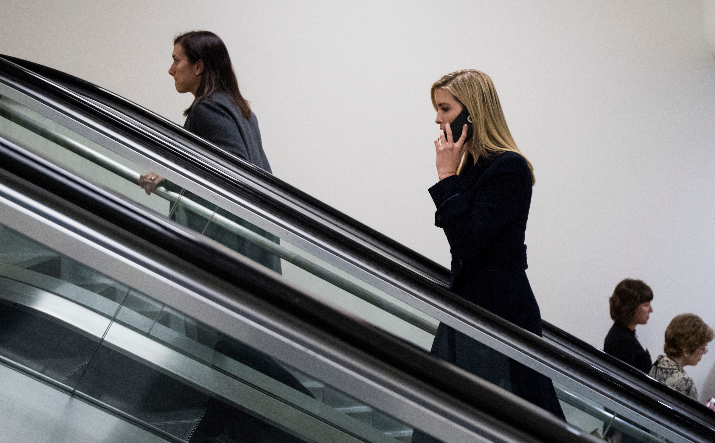 UNITED STATES - NOVEMBER 16: Ivanka Trump enters the U.S. Capitol via the Senate subway on Thursday, Nov. 16, 2017. (Photo By Bill Clark/CQ Roll Call)