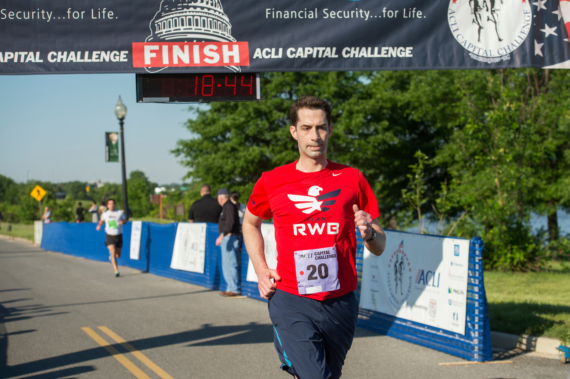 Arkansas Sen. Tom Cotton's reign as fastest lawmaker in the ACLI Capital Challenge came to an end in May this year. (He finished second.) His time in the Senate could also be coming to an end if a New York Times report comes to fruition about a White House plan that would have Secretary of State Rex Tillerson ousted, CIA Director Mike Pompeo moved to State and Cotton offered the CIA directorship. Twist: Cotton is pro-waterboarding — look for a McCain thumbs-down on his confirmation. (Tom Williams/CQ Roll Call file photo).