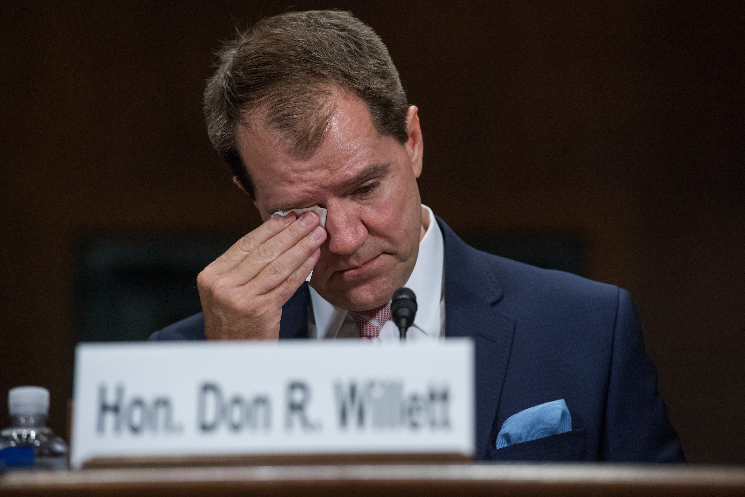 UNITED STATES - NOVEMBER 15: Don R. Willett, nominee to be a judge for the 5th U.S. Circuit Court of Appeals, testifies during his Senate Judiciary Committee confirmation hearing in Dirksen Building on November 15, 2017. (Photo By Tom Williams/CQ Roll Call)