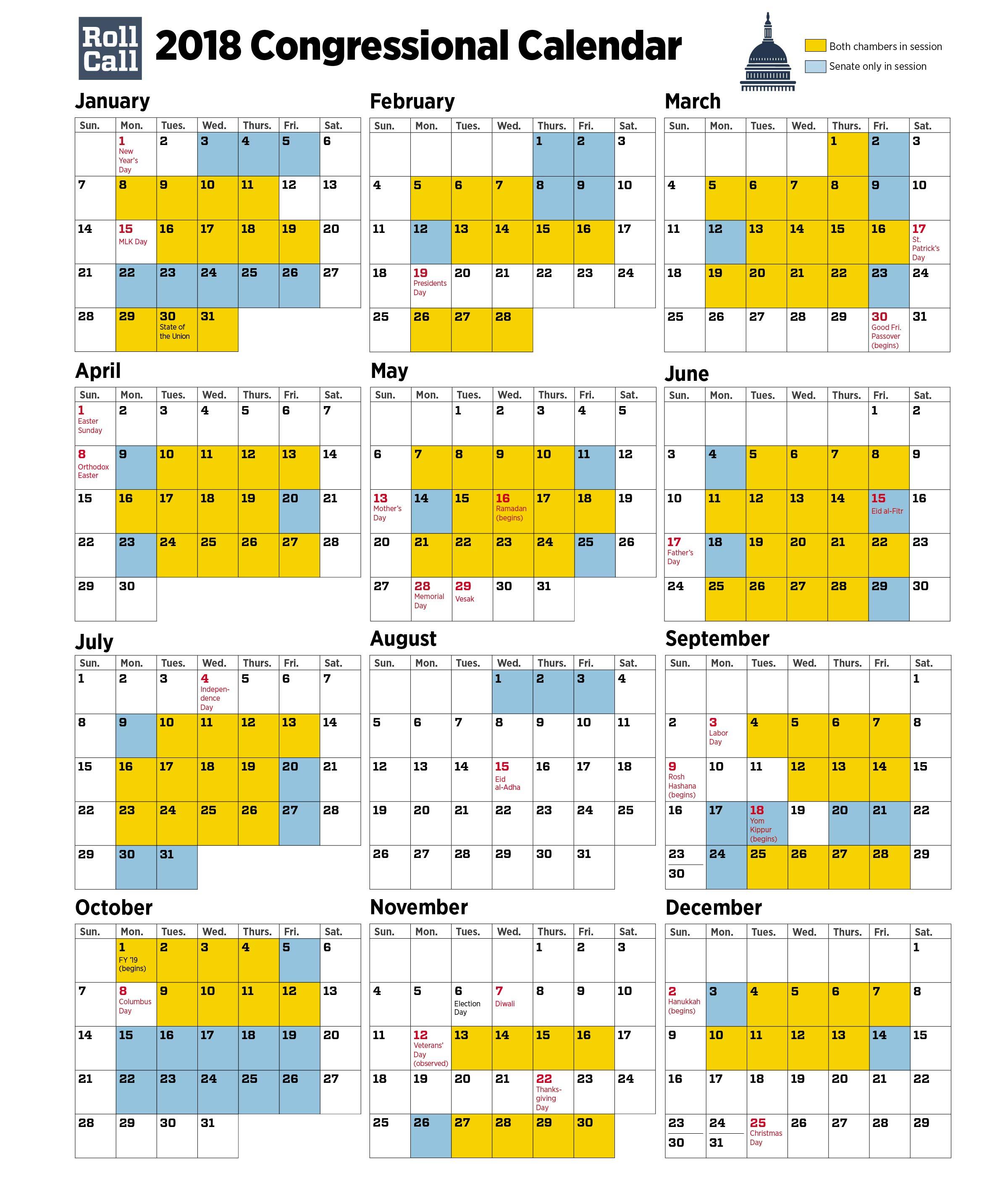 2018-Congressional_Calendar