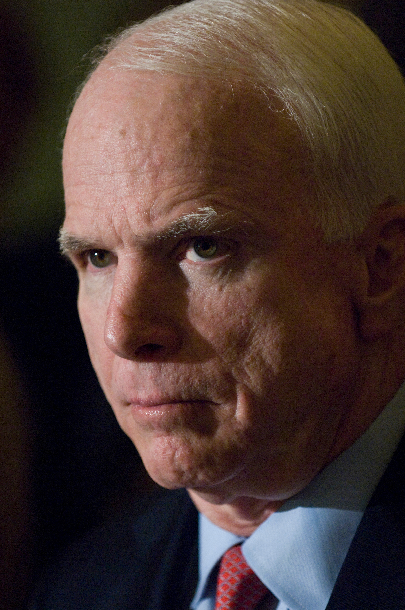 December 2009: Sen. John McCain, R-Ariz., during a news conference after the Senate Republican policy luncheon, as the Senate prepares to debate a bill overhauling health care, and as President Obama is expected to announce Tuesday evening that he is sending some 30,000 more U.S. troops to Afghanistan, bringing the total to 100,000. (Scott J. Ferrell/CQ Roll Call file photo)