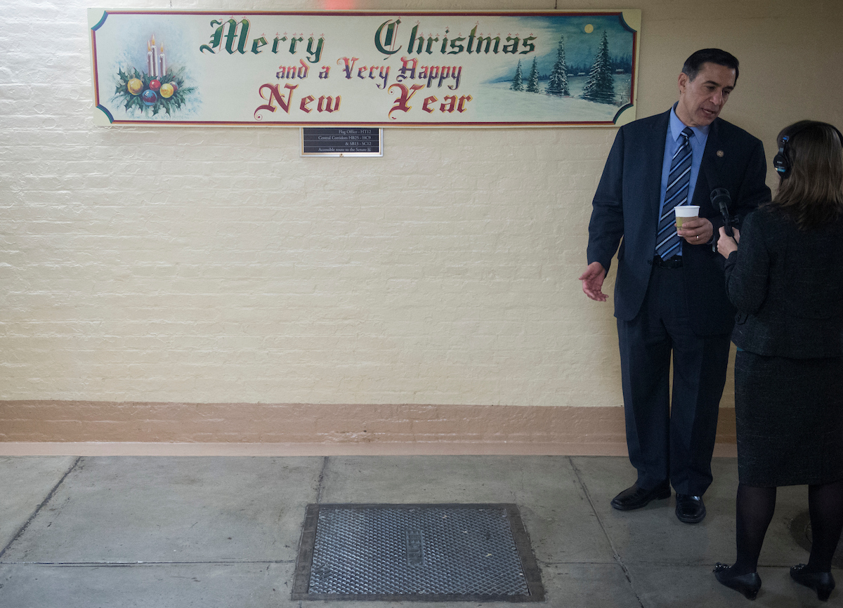 Rep. Darrell Issa, R-Calif., was one of 12 Republicans to vote against the GOP tax plan. He is also one of the most vulnerable incumbents. (Bill Clark/CQ Roll Call file photo)