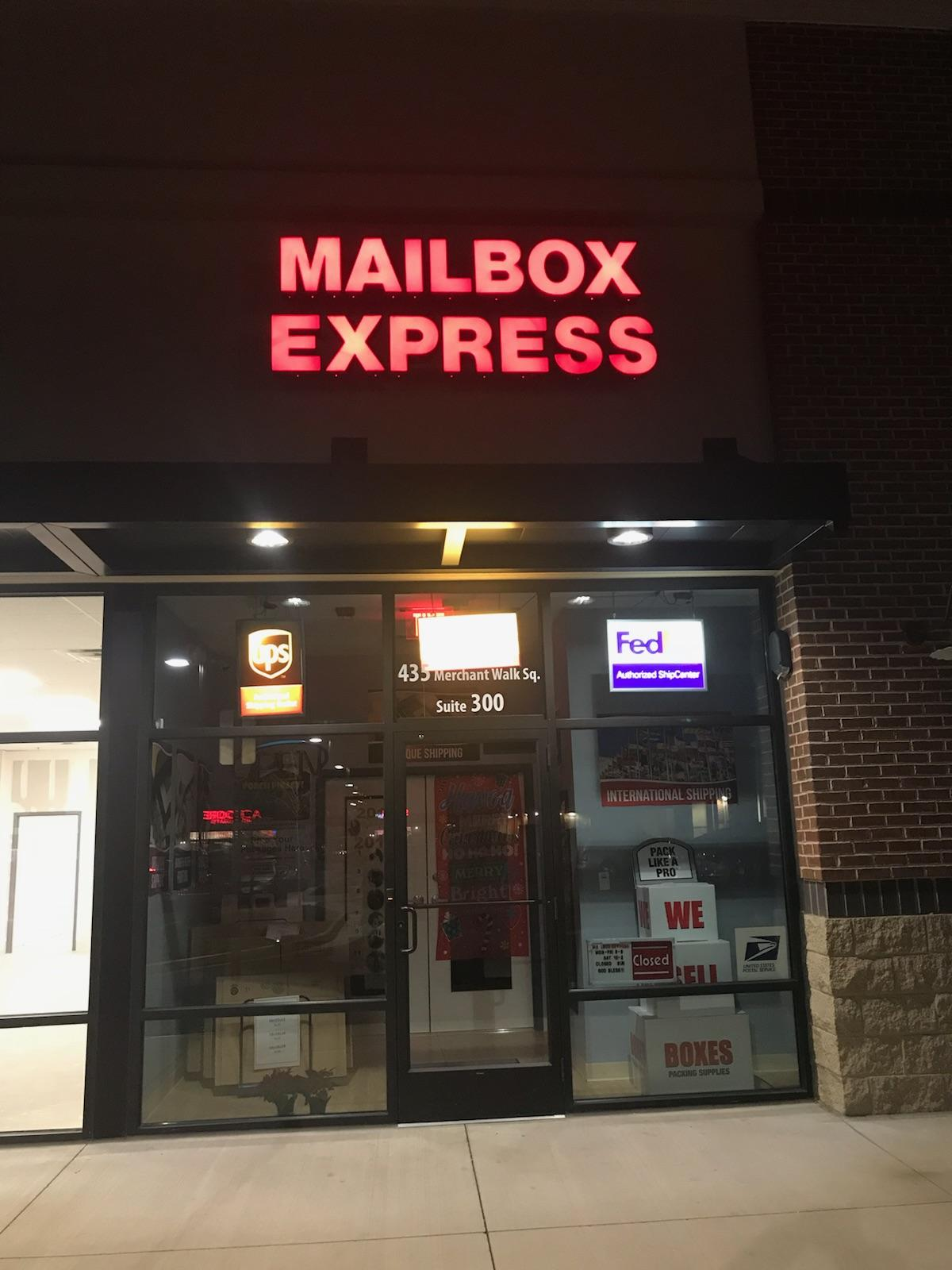 This Mailbox Express is the latest address on file for the Club for Conservatives PAC. (Harry Gray for CQ Roll Call)