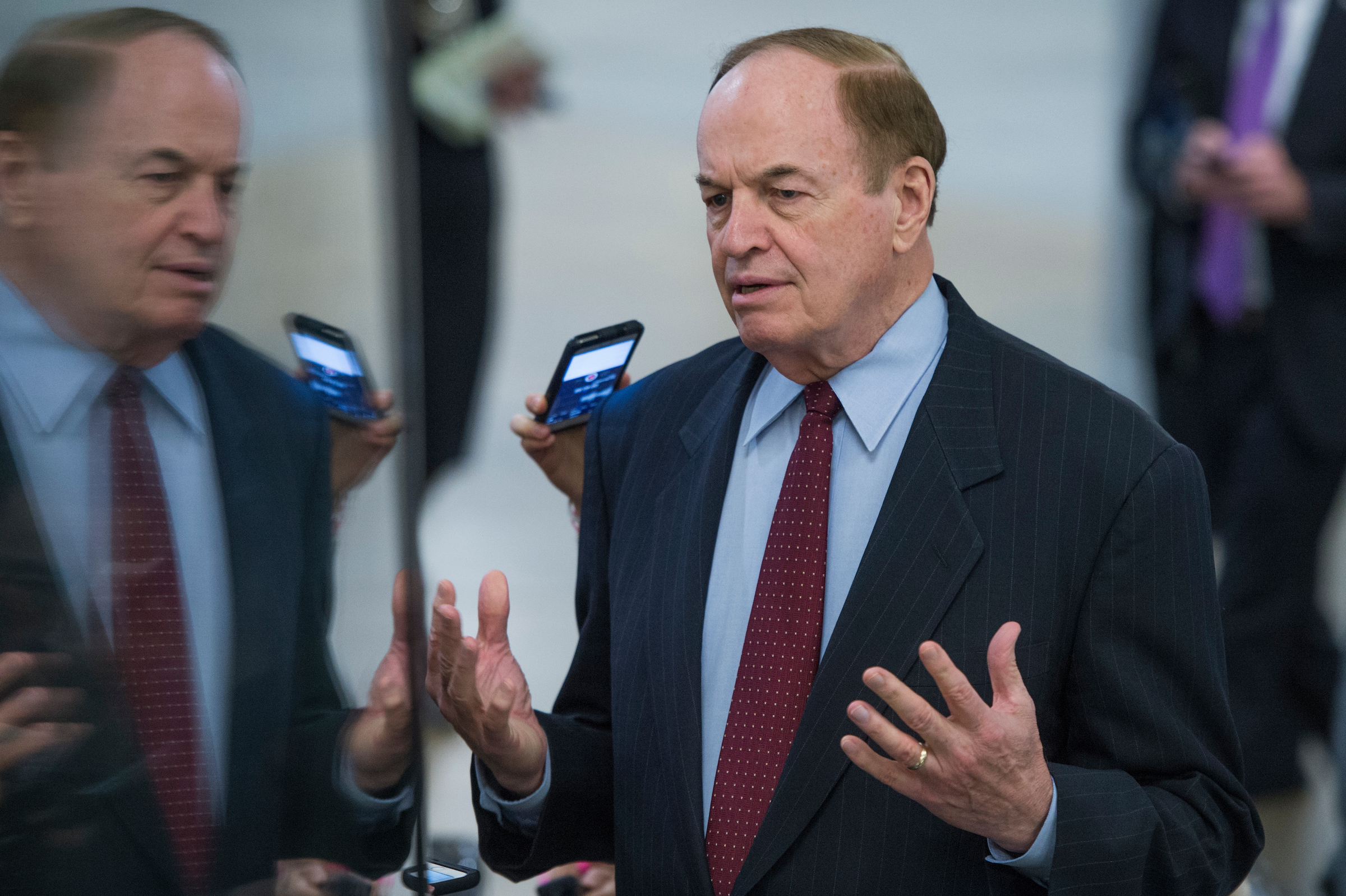 UNITED STATES - DECEMBER 06: Sen. Richard Shelby, R-Ala., is seen in the senate subway before a vote in the Capitol on December 6, 2017. (Photo By Tom Williams/CQ Roll Call)