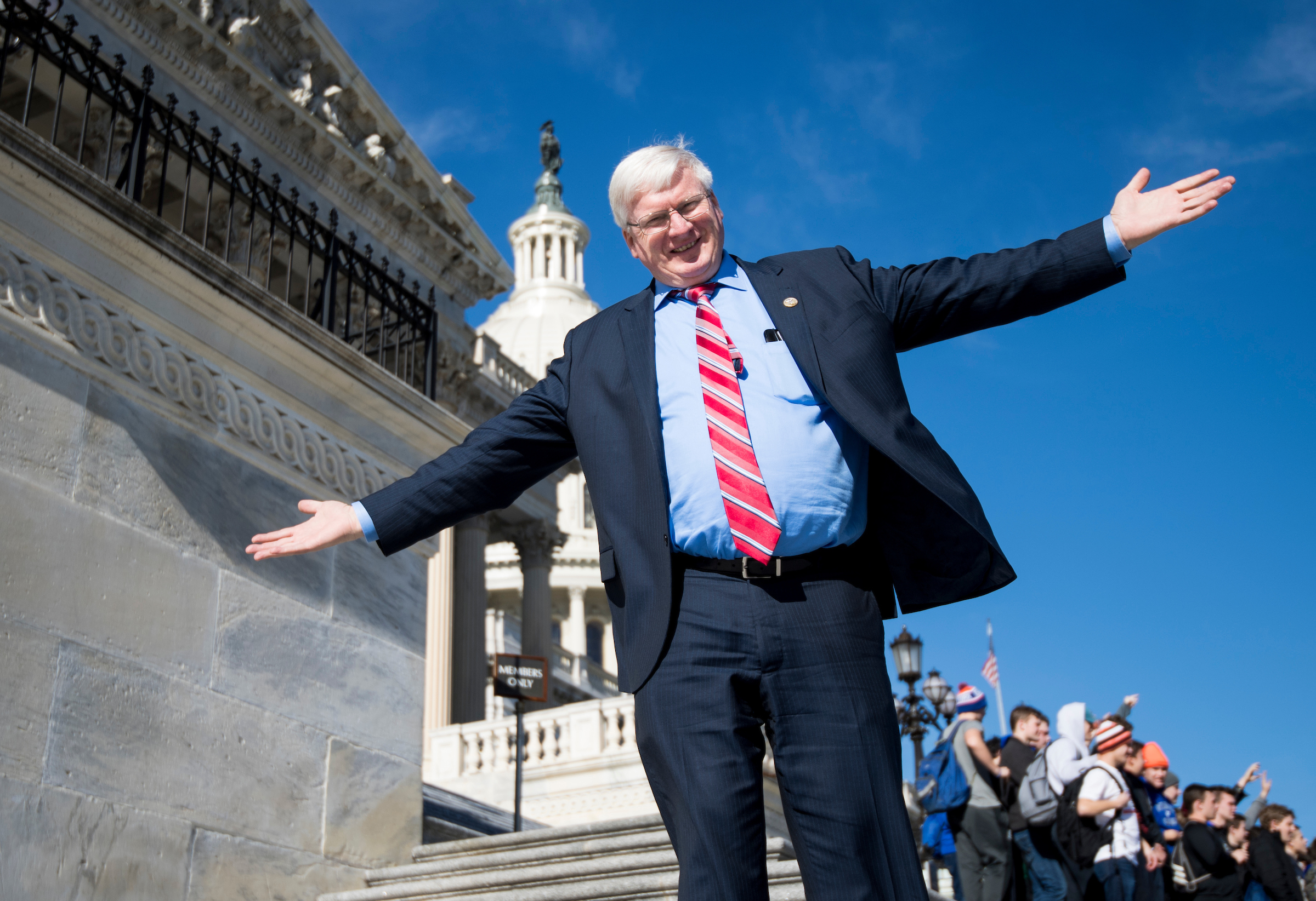 UNITED STATES - JANUARY 19: Rep. Glenn Grothman, R-Wisc., walks down the House steps following the final scheduled votes of the week on Friday, Jan. 19, 2018. House members were told to stay flexible on their schedule as efforts to avoid a government shutdown continued in Washington. (Photo By Bill Clark/CQ Roll Call)
