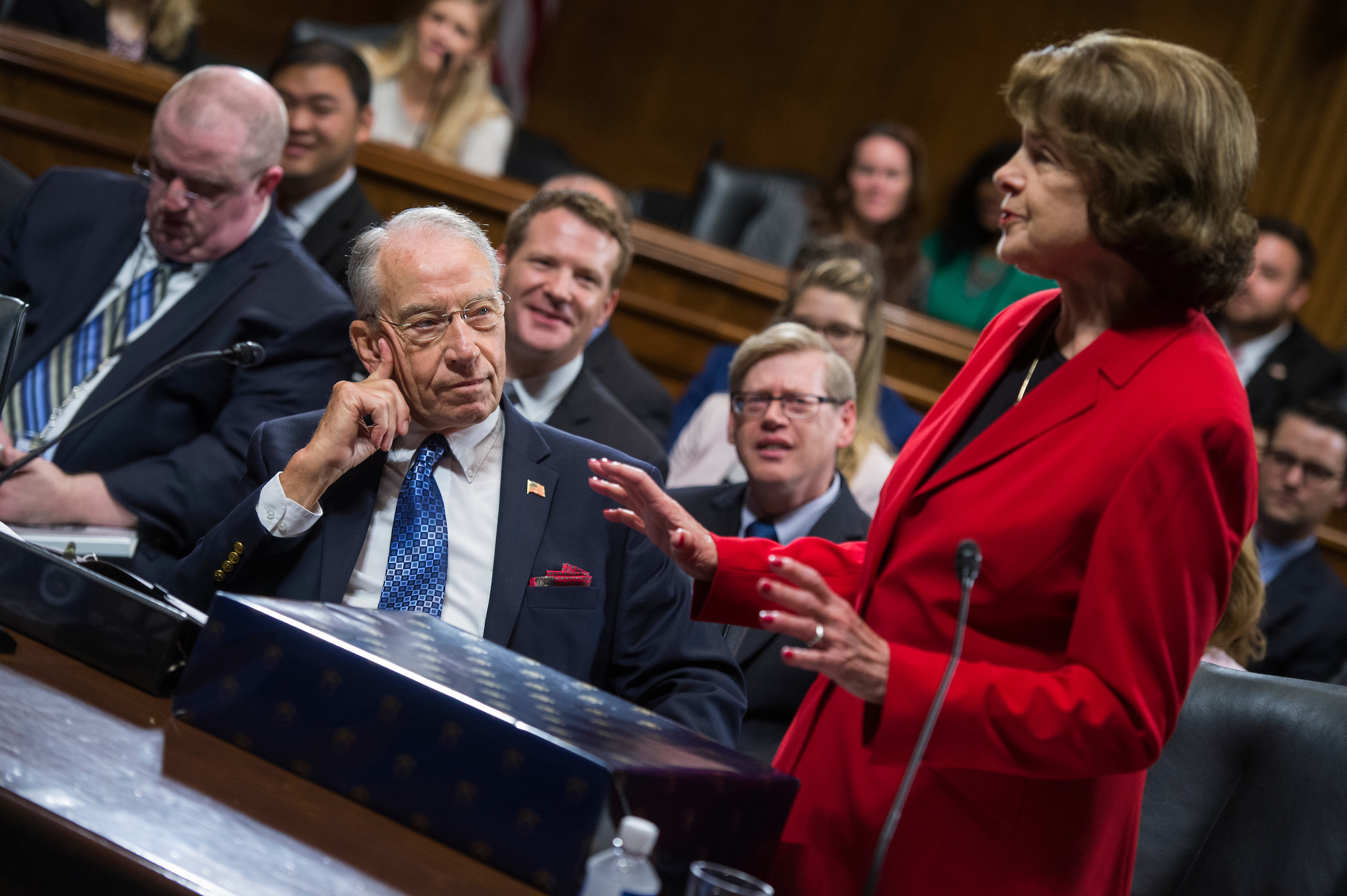 Grassley and Feinstein.  (Tom Williams/CQ Roll Call)