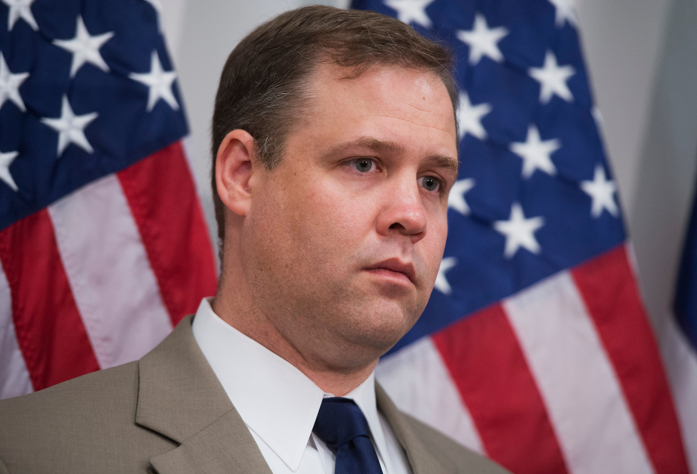 UNITED STATES - MAY 21: Rep. Jim Bridenstine, R-Okla., attends a news conference in the Capitol where he and others primarily expressed support for victims of the Oklahoma tornado. (Photo By Tom Williams/CQ Roll Call)