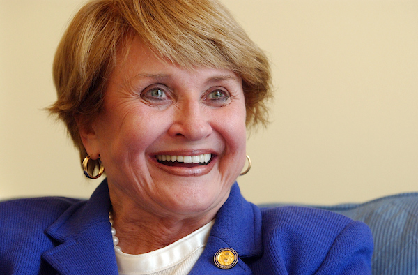 2003: Rep. Louise Slaughter, D-N.Y., is interviewed by Roll Call in her Capitol office.