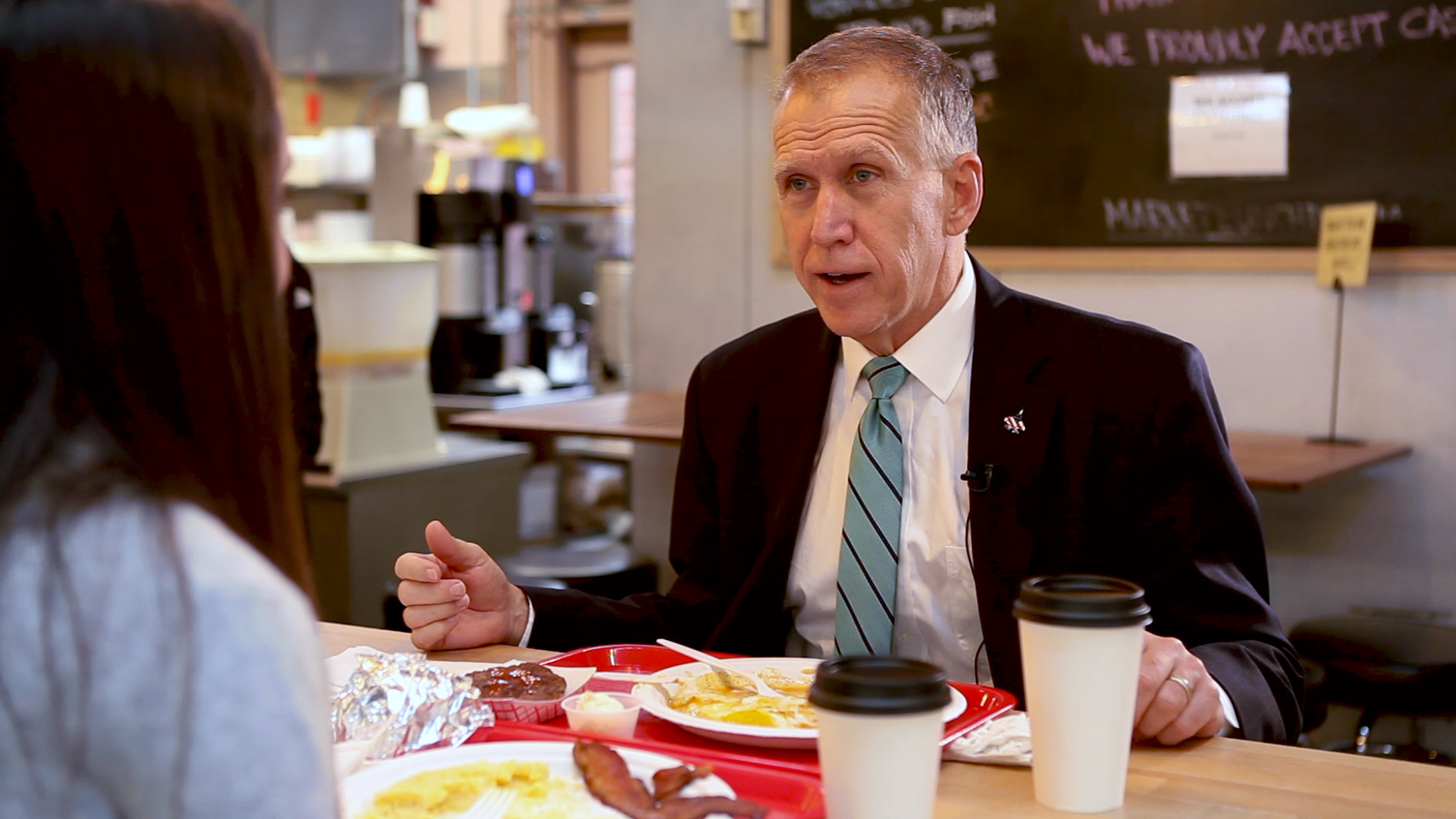 Tillis had sunny side up eggs for breakfast growing up with his six siblings. (Thomas McKinless/ CQ Roll Call)