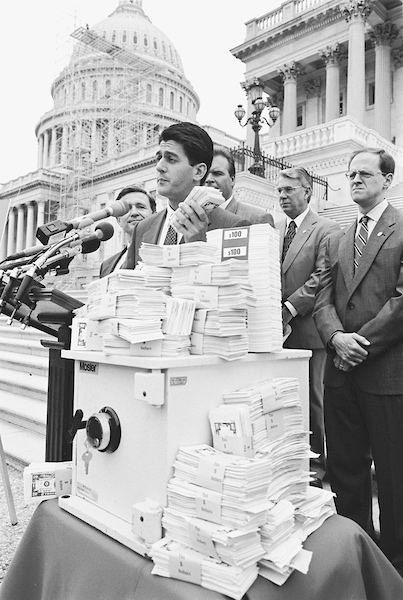 Not even a year into his time in Washington, Ryan was already championing reforms for social security and other entitlements. He's pictured here in July 1999. (CQ Roll Call archive photo)