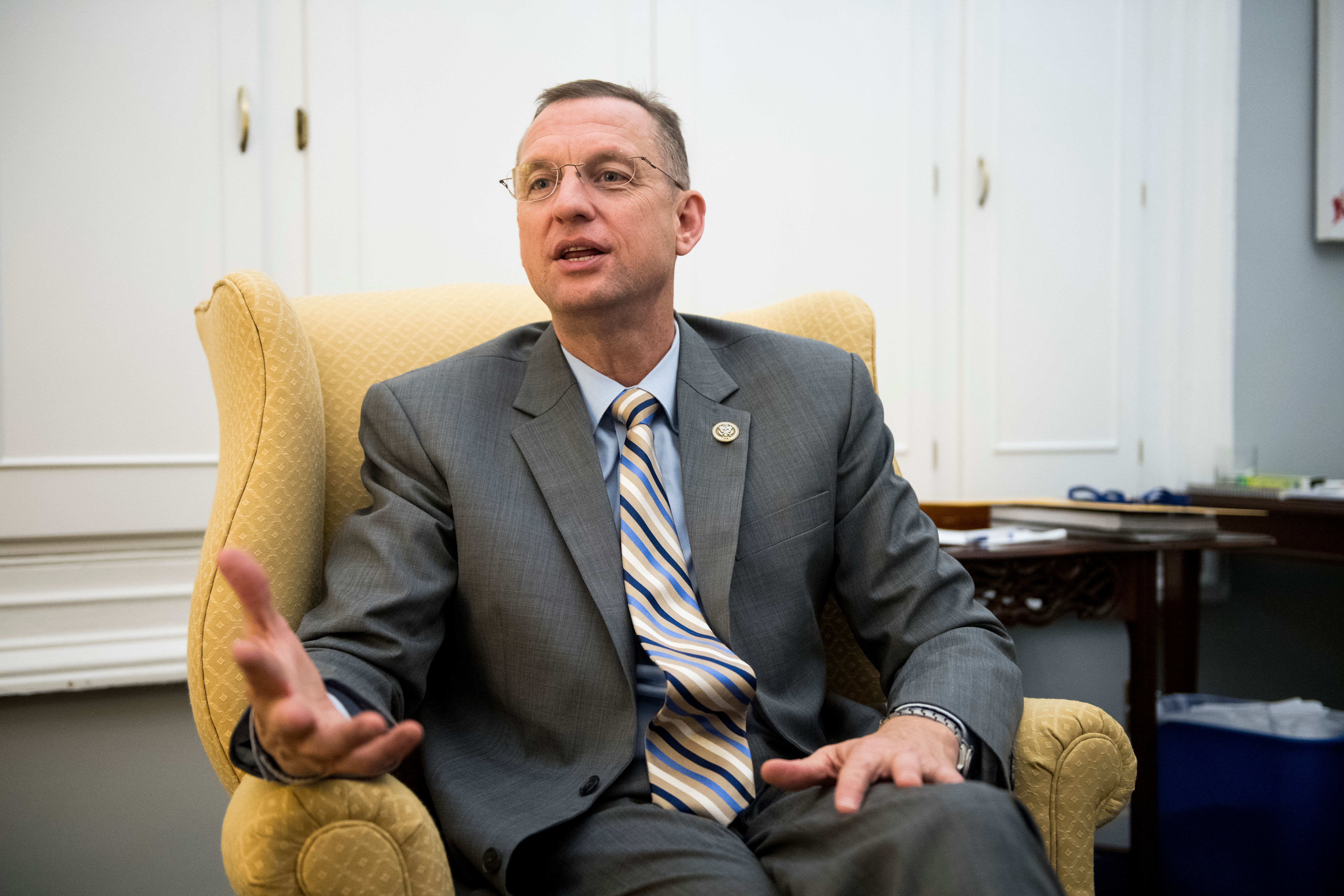 UNITED STATES - APRIL 10: Rep. Doug Collins, R-Ga., speaks with Roll Call on Tuesday, April 10, 2018. (Photo By Bill Clark/CQ Roll Call)