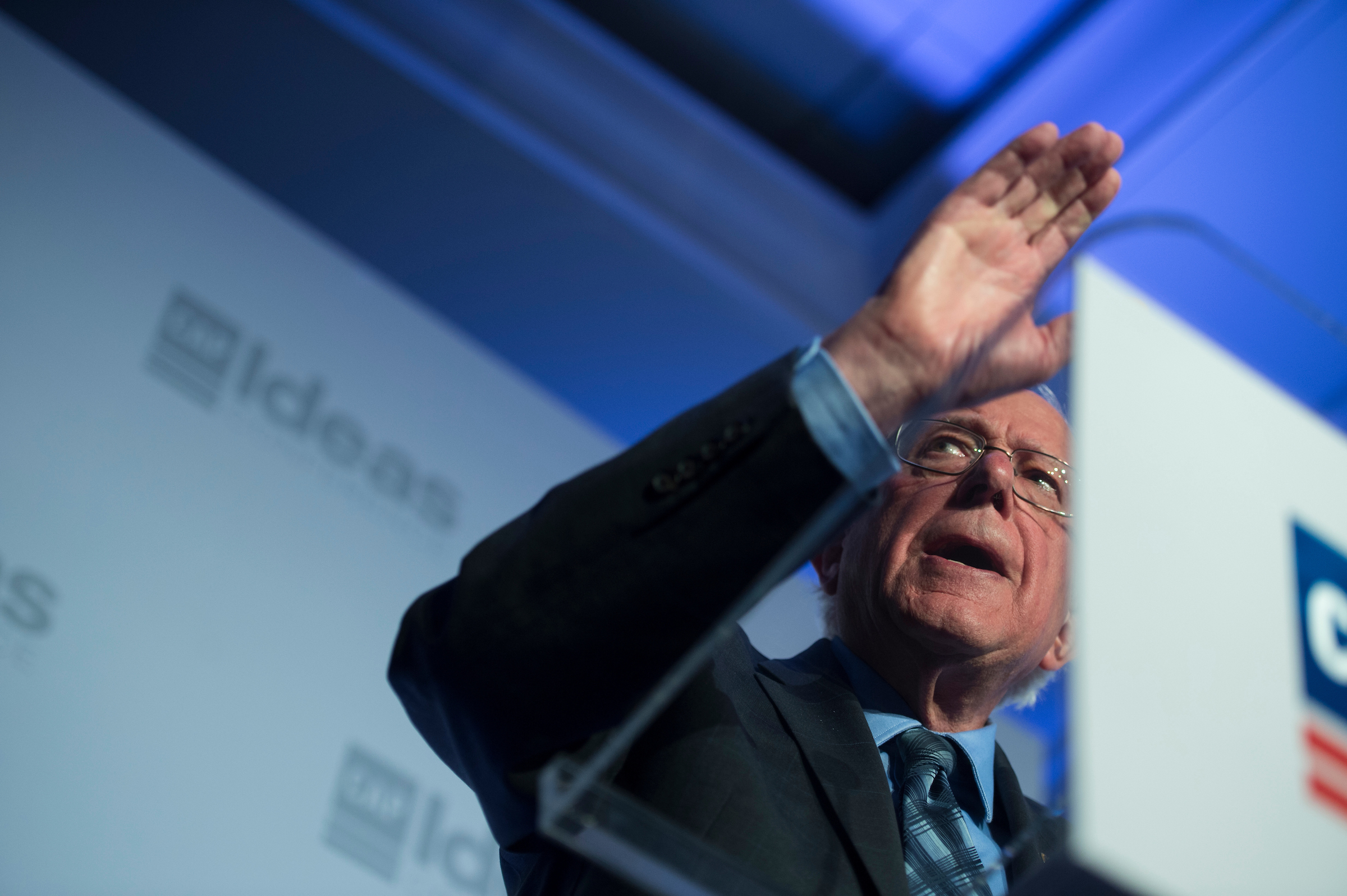 Sen. Bernie Sanders (D-VT) speaks at the Center for American Progress 'Ideas' conference Tuesday May 15, 2018. (Photo by Sarah Silbiger/CQ Roll Call)