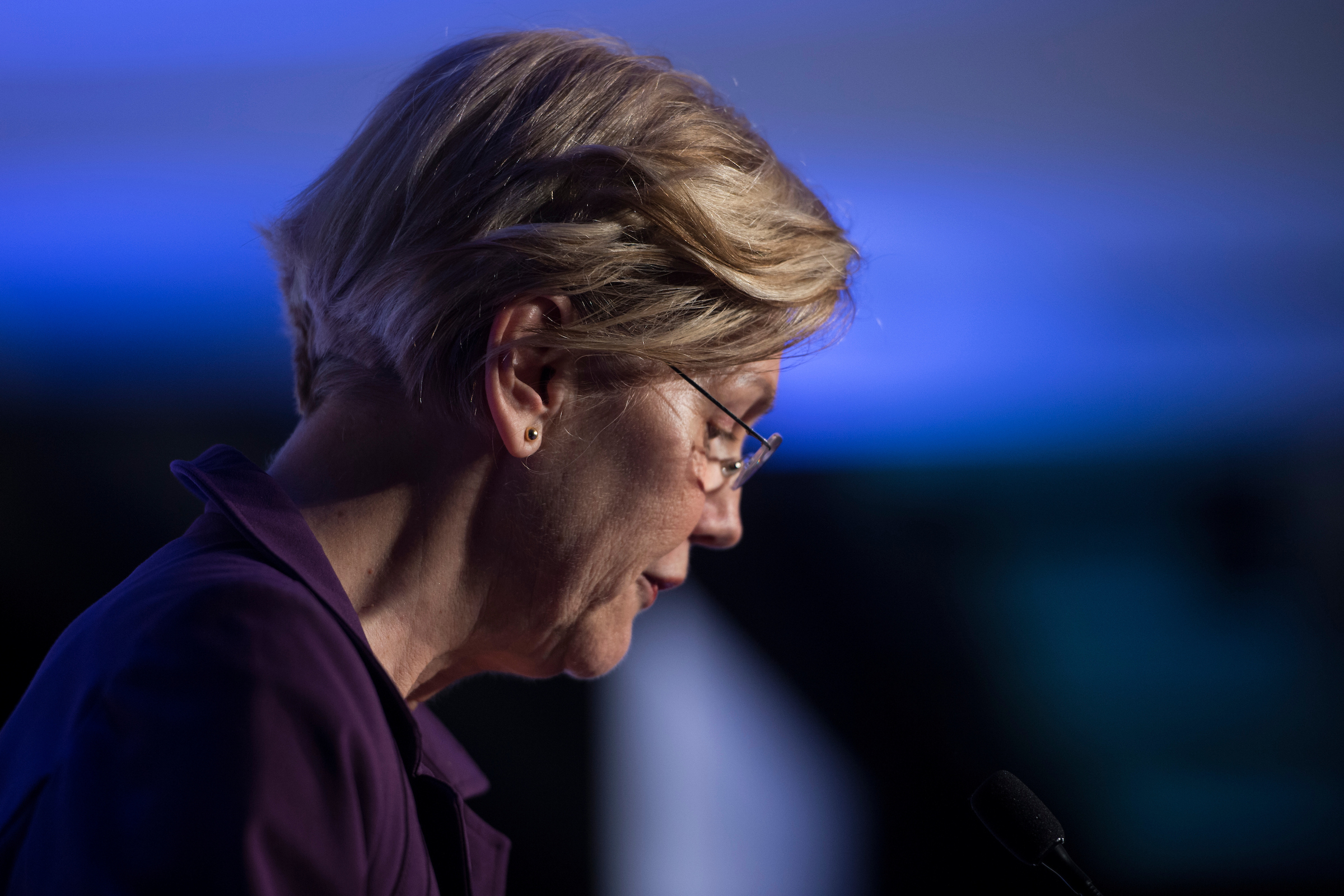UNITED STATES - MAY 15: Sen. Elizabeth Warren (D-MA) speaks at the Center for American Progress 'Ideas' conference Tuesday May 15, 2018. (Photo by Sarah Silbiger/CQ Roll Call)