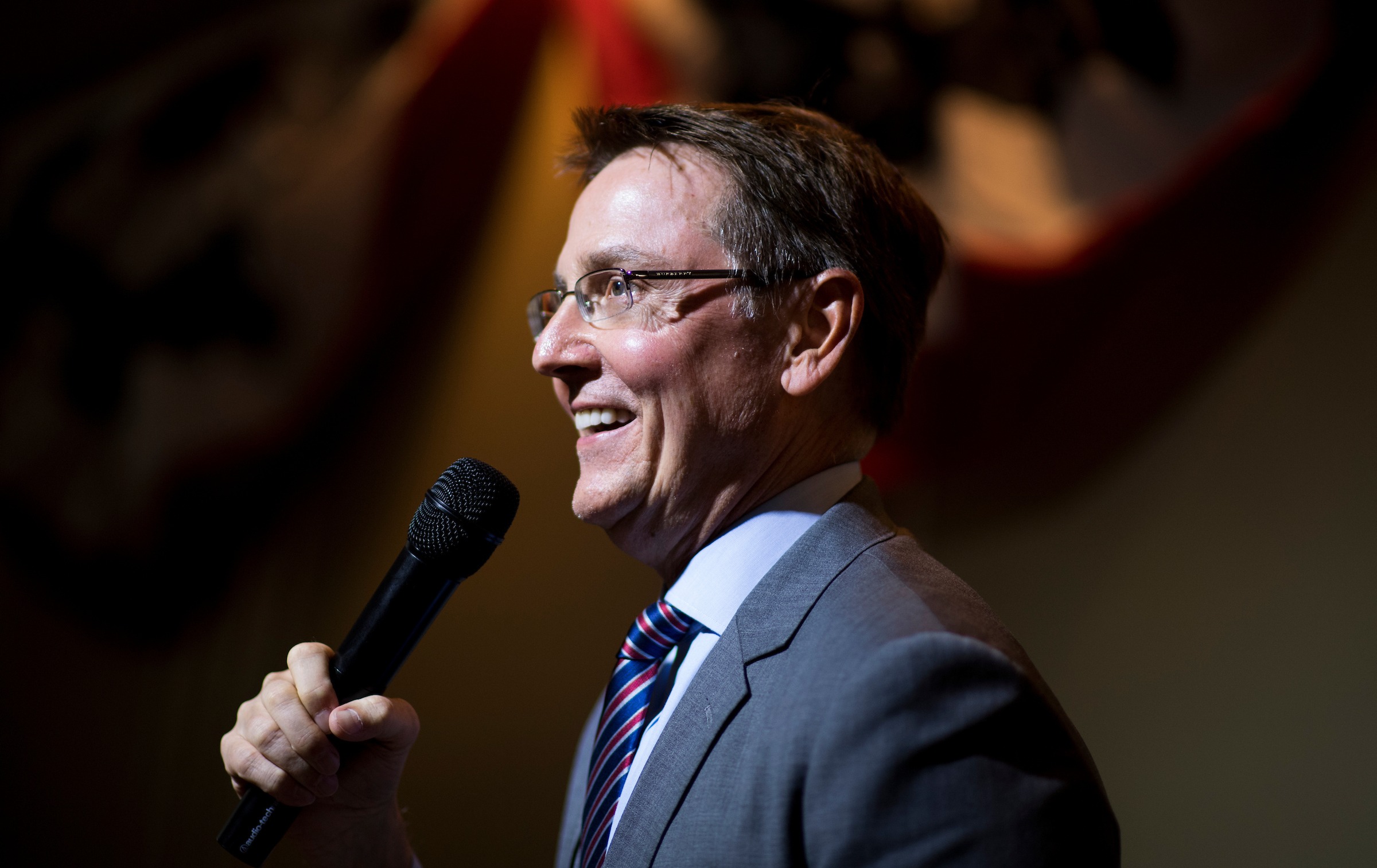 Lexington Mayor Jim Gray, seen here campaigning for Senate in 2016, is running for the Democratic nod in the 6th District on Tuesday against retired Marine pilot Amy McGrath. (Bill Clark/CQ Roll Call file photo)