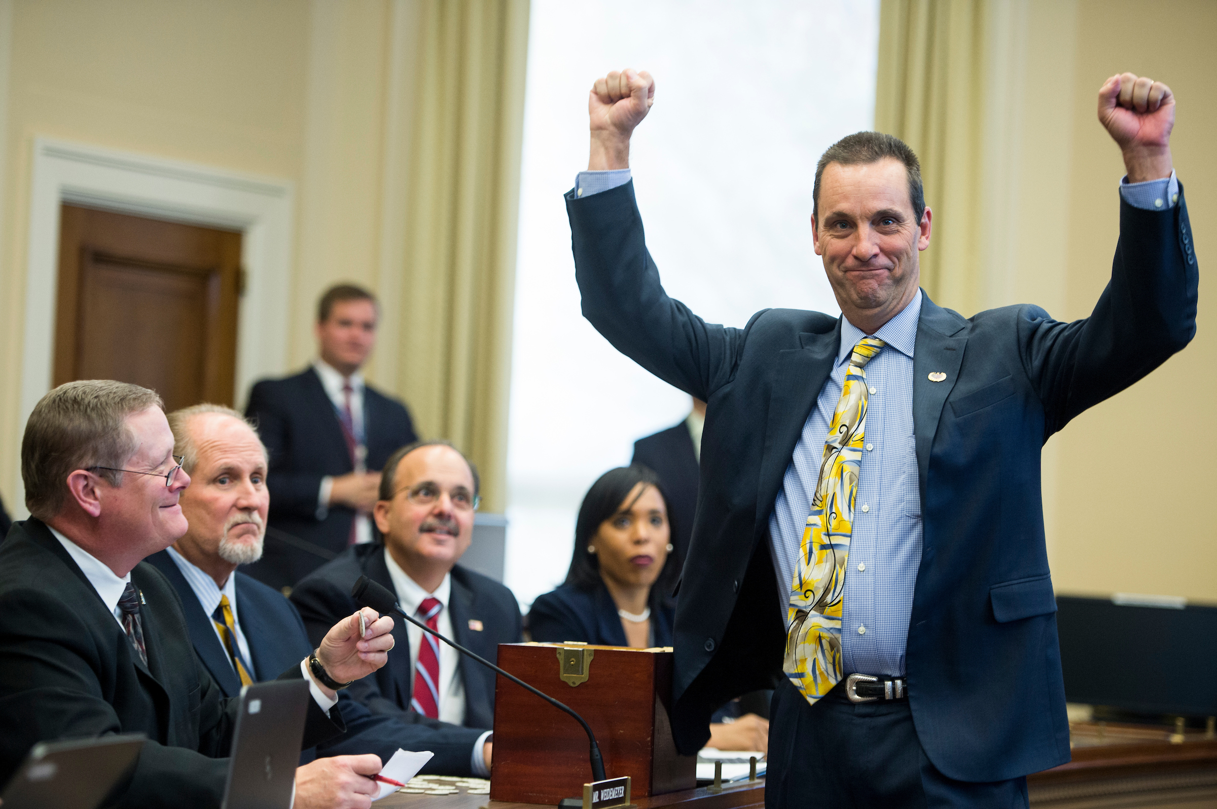 California GOP Rep. Steve Knight celebrated in 2014 when he drew the first pick for a congressional office. Will he be celebrating his re-election this November? Democrats hope not.