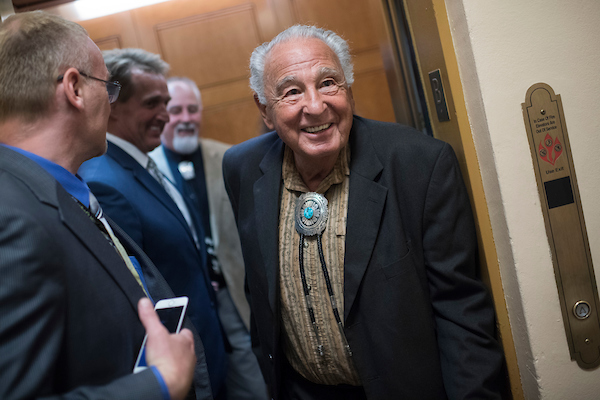 UNITED STATES - MAY 22: Former Senator Ben Nighthorse Campbell is seen in the Capitol on May 22, 2018. (Photo By Tom Williams/CQ Roll Call)