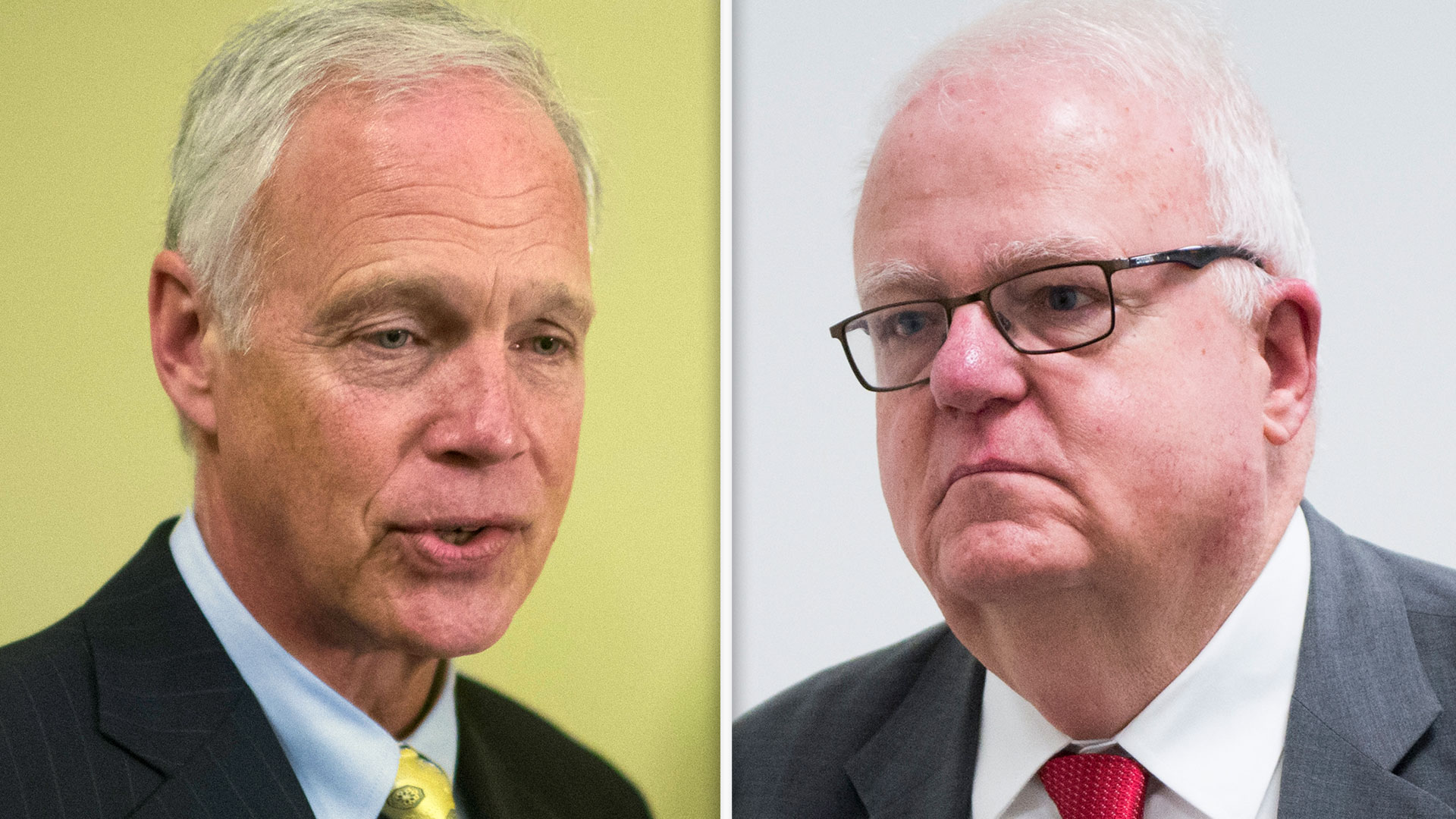 Wisconsin Sen. Ron Johnson, left, and Rep. Jim Sensenbrenner have introduced companion bills called the Stopping Overdoses of Fentanyl Analogues, or SOFA, Act. (Tom Williams/Bill Clark/CQ Roll Call file photos)