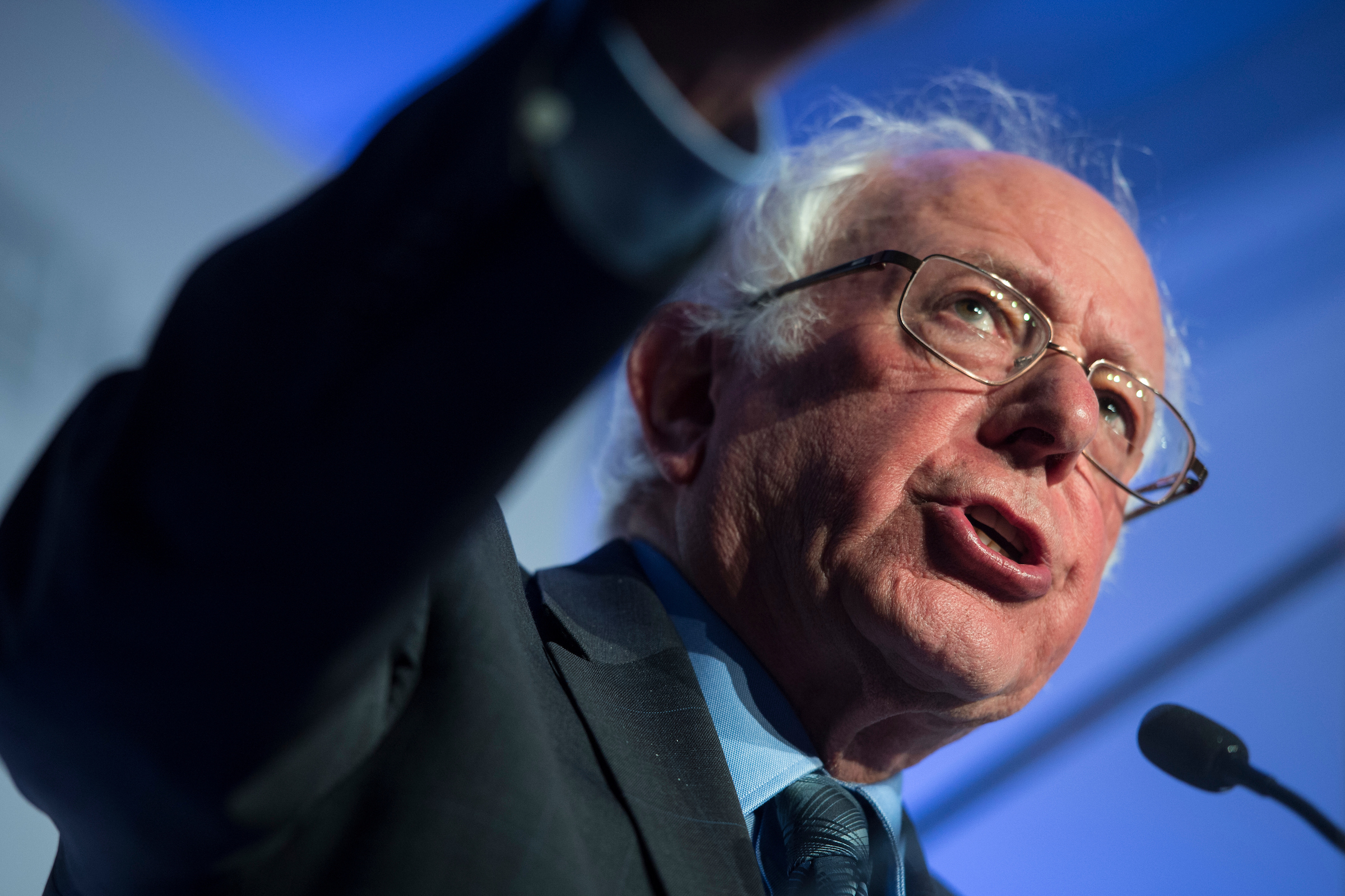 Sen. Bernie Sanders, D-Vt., above, and congressional candidate Alexandria Ocasio-Cortez, D-N.Y., will headline two rallies in Kansas this weekend. (Sarah Silbiger/CQ Roll Call)