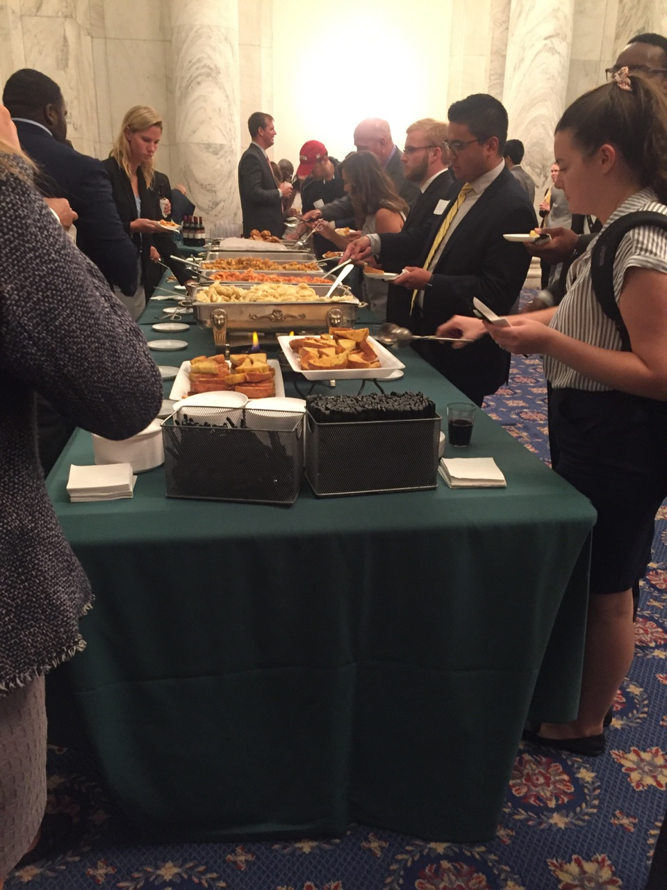 Pasta for everyone at the Soy Reception. (Alex Gangitano/ CQ Roll Call)
