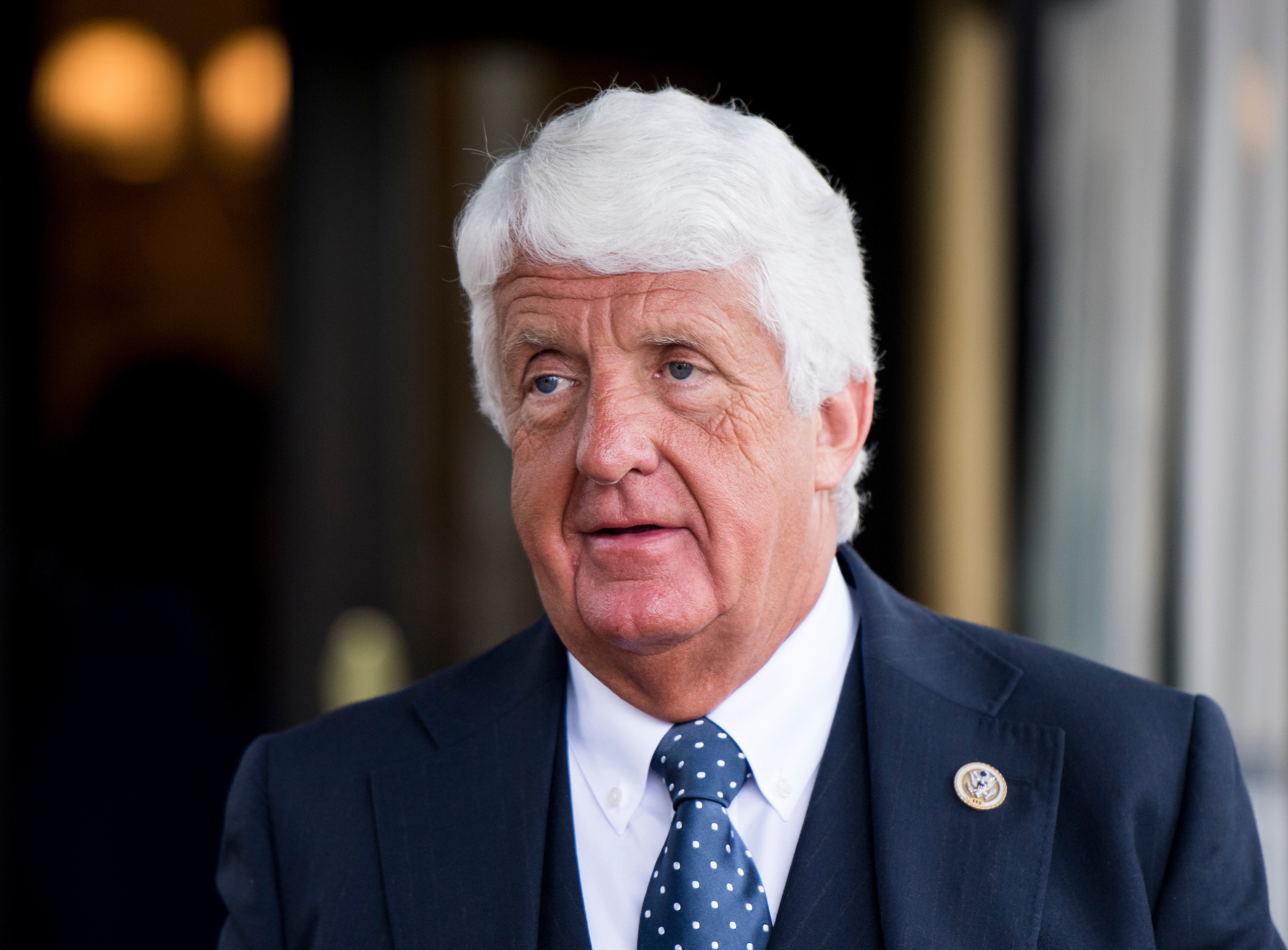 UNITED STATES - MAY 16: Rep. Rob Bishop, R-Utah, leaves the House Republican Conference meeting at the Capitol Hill Club on Wednesday, May 16, 2018. (Photo By Bill Clark/CQ Roll Call)