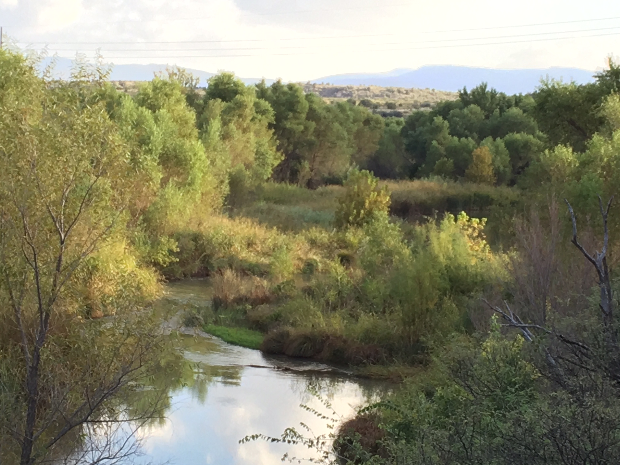 The view from the Dick family home on the Verde River outside Cottonwood, Arizona. (Jason Dick/CQ Roll Call)