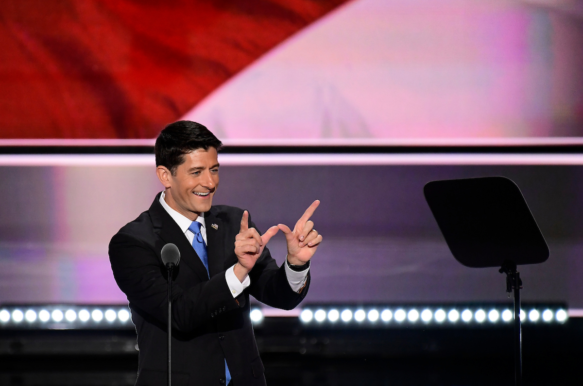 "Speaker Paul D. Ryan, here at the 2016 Republican National Convention, is hoping for a ""W"" from former aide Bryan Steil who's running to succeed him in Wisconsin's 1st District. (Bill Clark/CQ Roll Call file photo)"