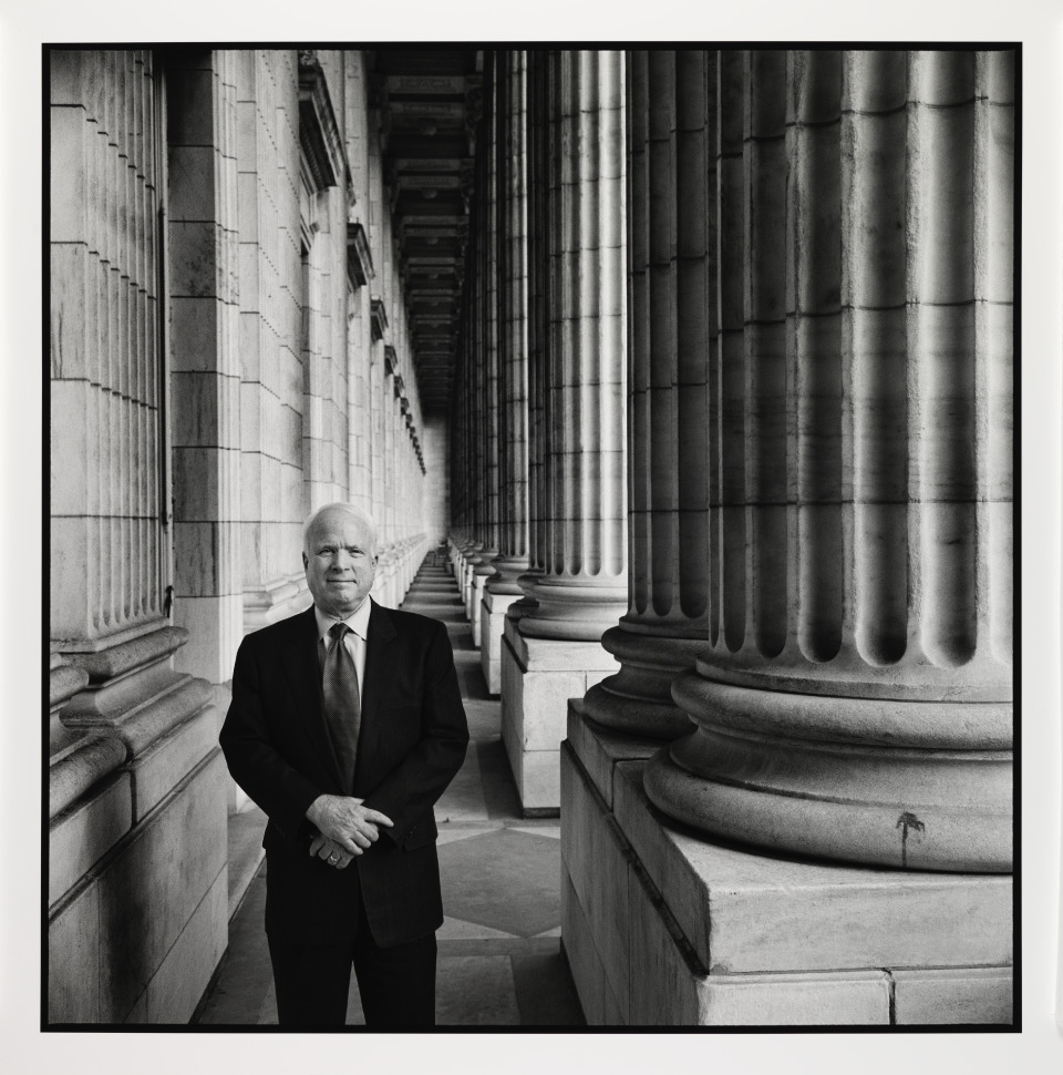 """This portrait captures John McCain on Capitol Hill and I think it sets him in context and really is an environmental portrait in the sense that it gives us context for his life and his career,"" Ann Shumard, the gallery's senior curator of photographs said. (Courtesy of the Smithsonian Institution)"