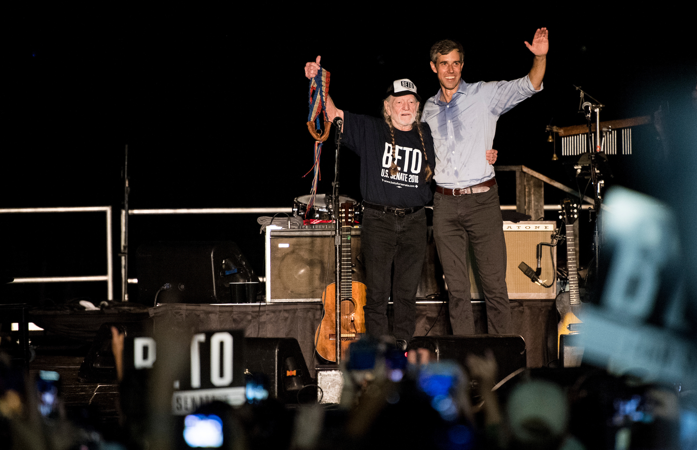 A sweaty Beto O'Rourke joined Willie Nelson onstage last weekend, and our own Bill Clark was there to capture the moment. Check out his other photos from his trip