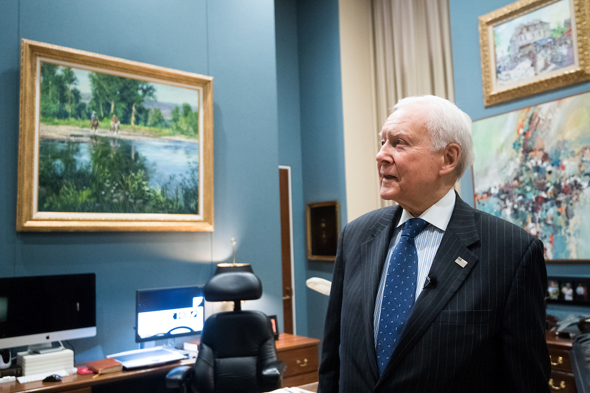 Sen. Orrin Hatch, R-Utah, speaks with Roll Call in his office on Dec. 11, 2018, as he prepares to depart the U.S. Senate. (Photo By Bill Clark/CQ Roll Call)