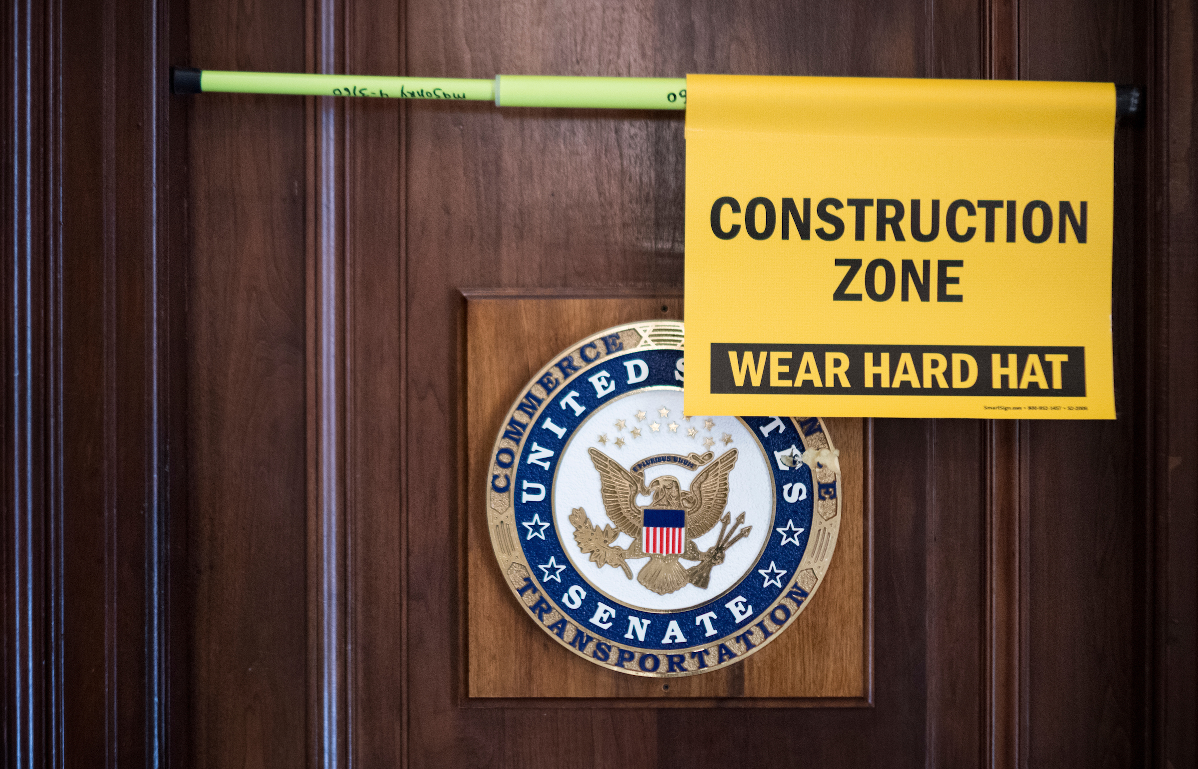 The Senate Commerce, Science, and Transportation Committee offices in the Russell Senate Office Building are undergoing renovations as seen on Wednesday, Jan. 23, 2019. (Bill Clark/CQ Roll Call)