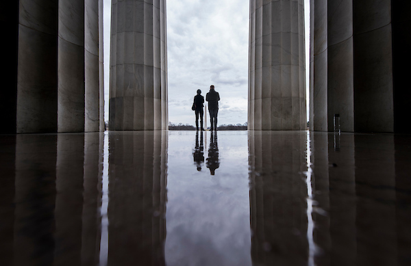 While the Lincoln Memorial remains open to visitors, some facilities are closed due to the government shut down on Tuesday, Jan. 1, 2019. (Bill Clark/CQ Roll Call)