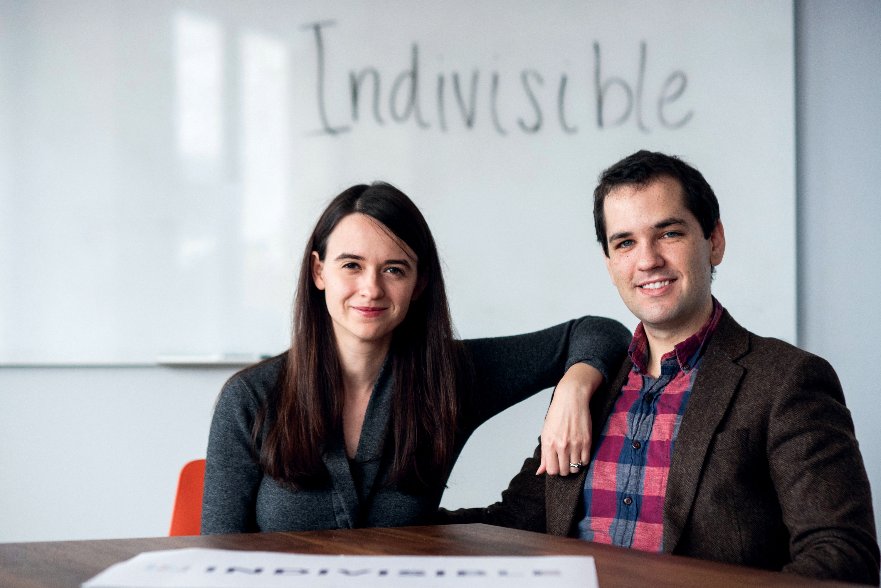 UNITED STATES - JANUARY 24: Leah Greenberg and Ezra Levin, founders of Indivisible, on Thursday, Jan. 24, 2019. (Photo By Bill Clark/CQ Roll Call)